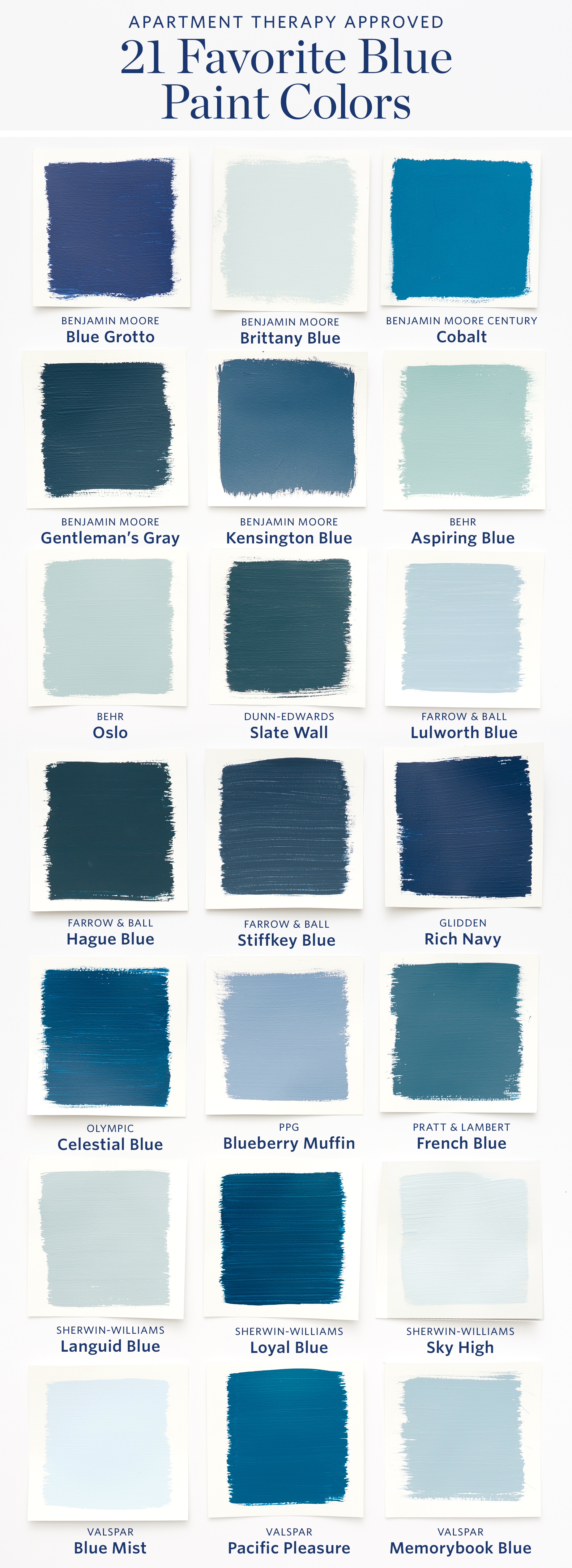 21 Best Blue Paint Colors For Interior Walls Apartment Therapy