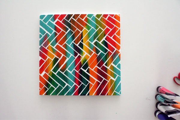 Create Your Own Art With These Abstract Art Diys Apartment Therapy