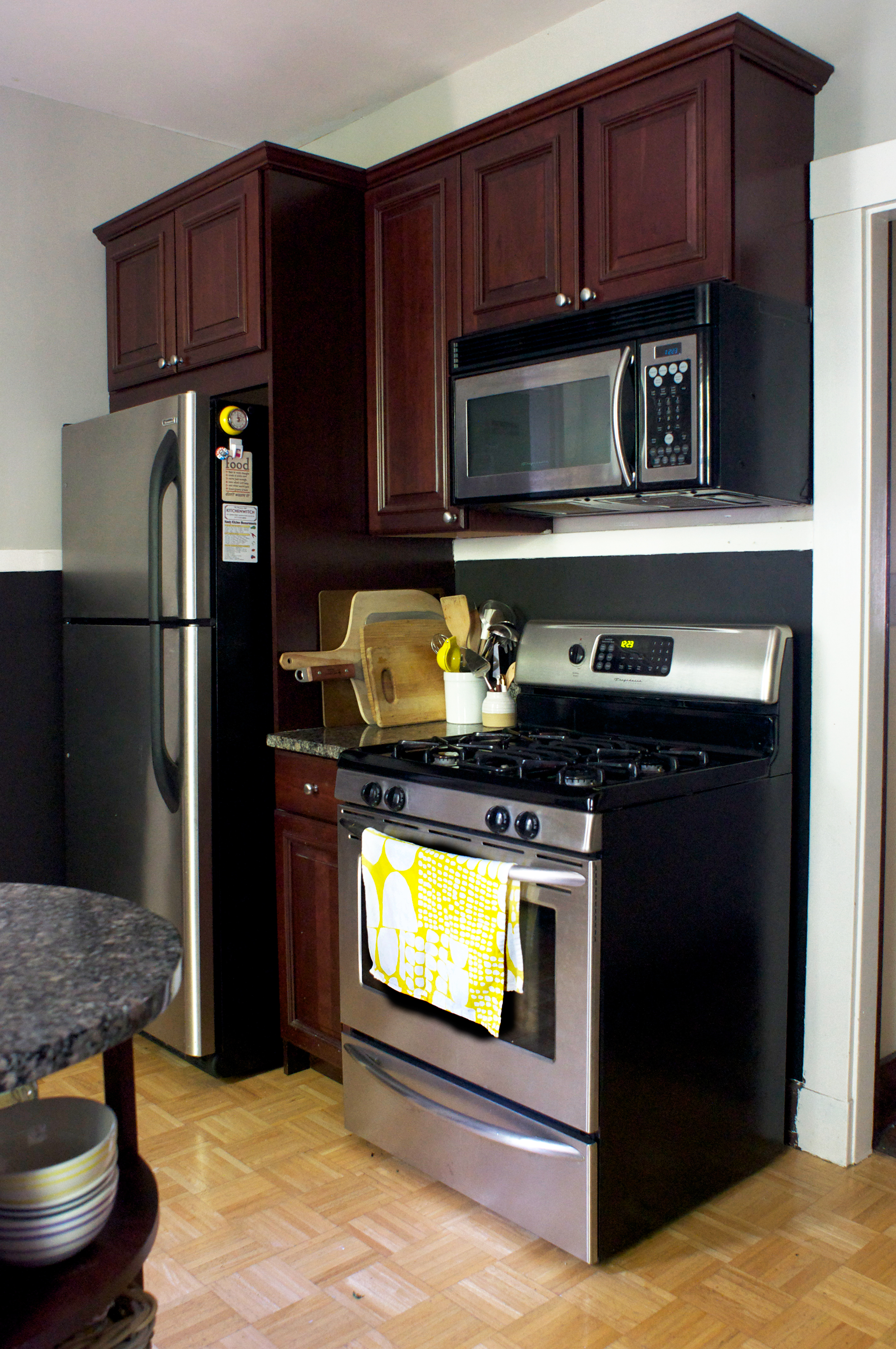How I Repainted My Rental Kitchen And Made Peace With The Cherry Cabinets Kitchn