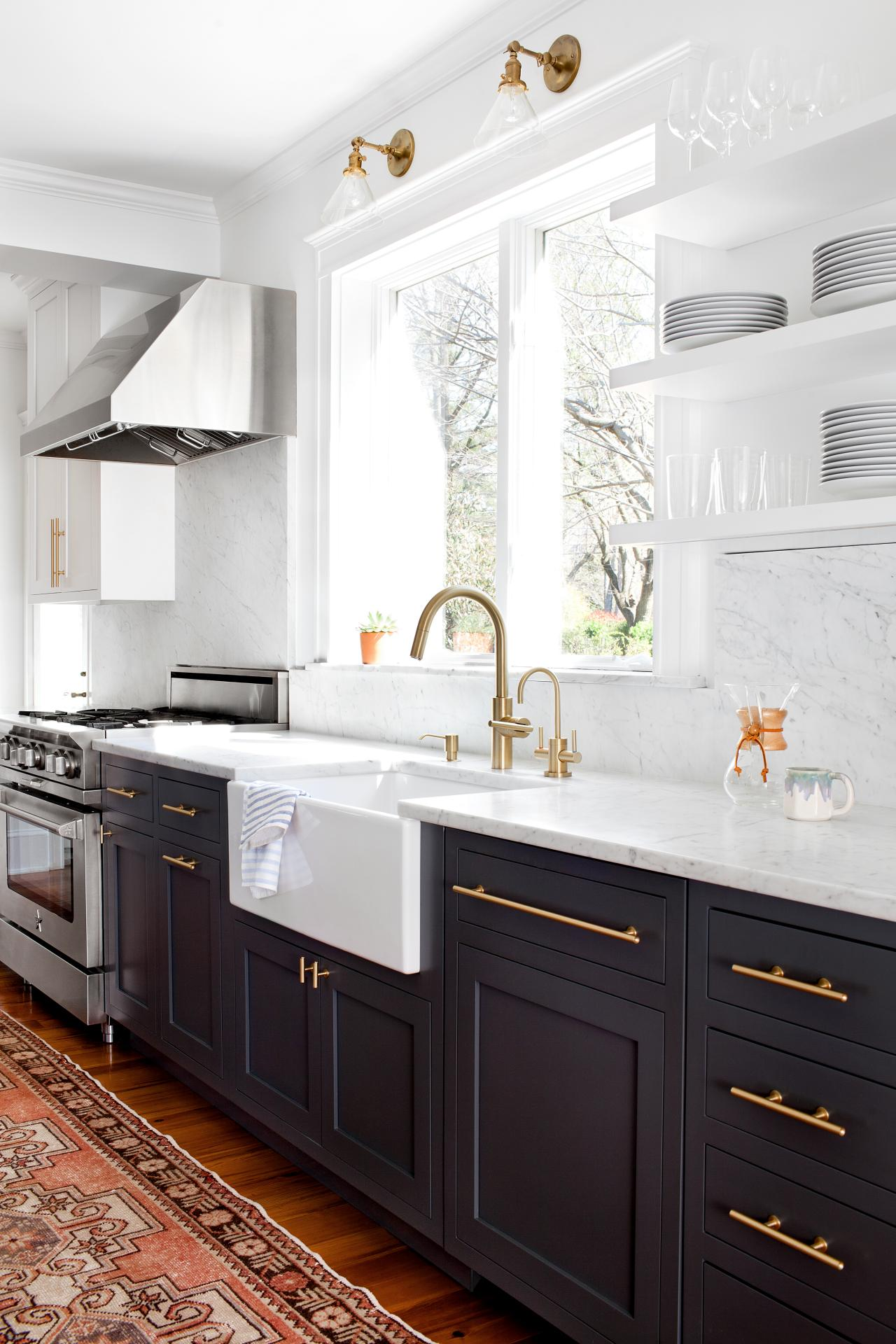 Two Tone Kitchen Cabinet Ideas How To Use 2 Color On Cabinets Apartment Therapy