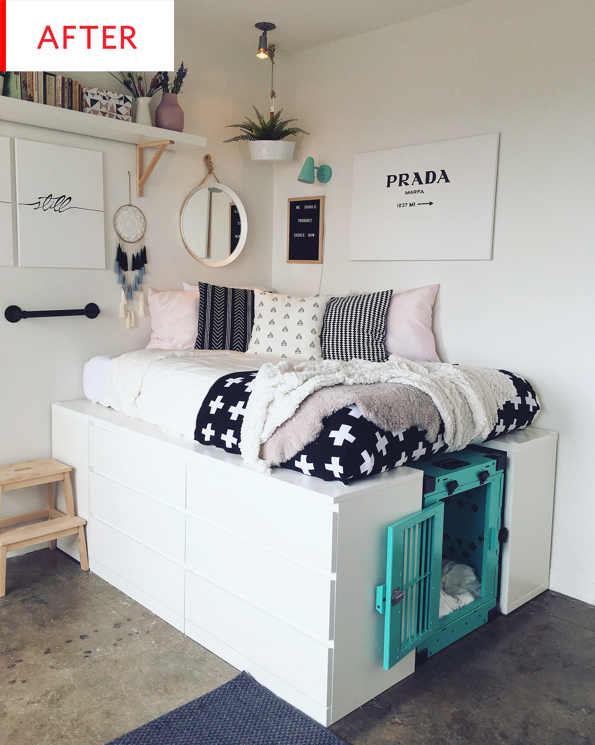 Ikea Storage Bed Hack Before After Apartment Therapy