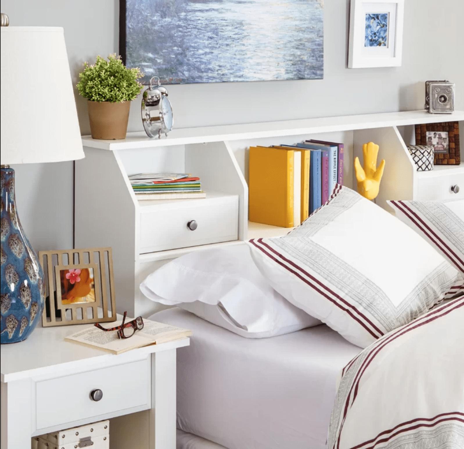 Lax Series Platform Bed bookcase headboard storage ideasbudget | apartment therapy