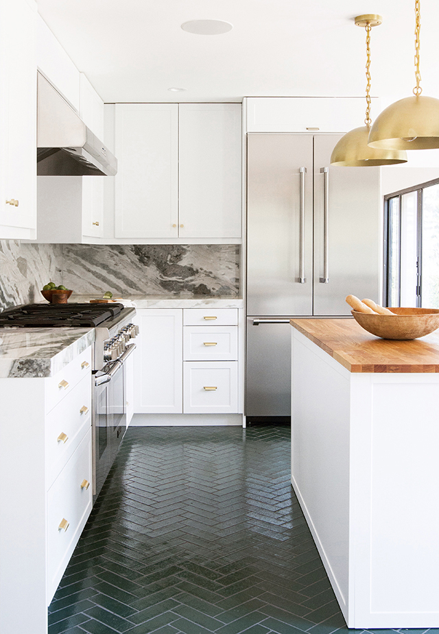 Herringbone Tiles Bathroom Flooring Ideas Apartment Therapy