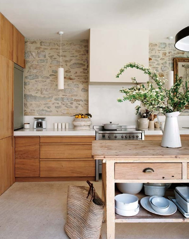 Kitchen Trends Natural Wood Cabinets Apartment Therapy