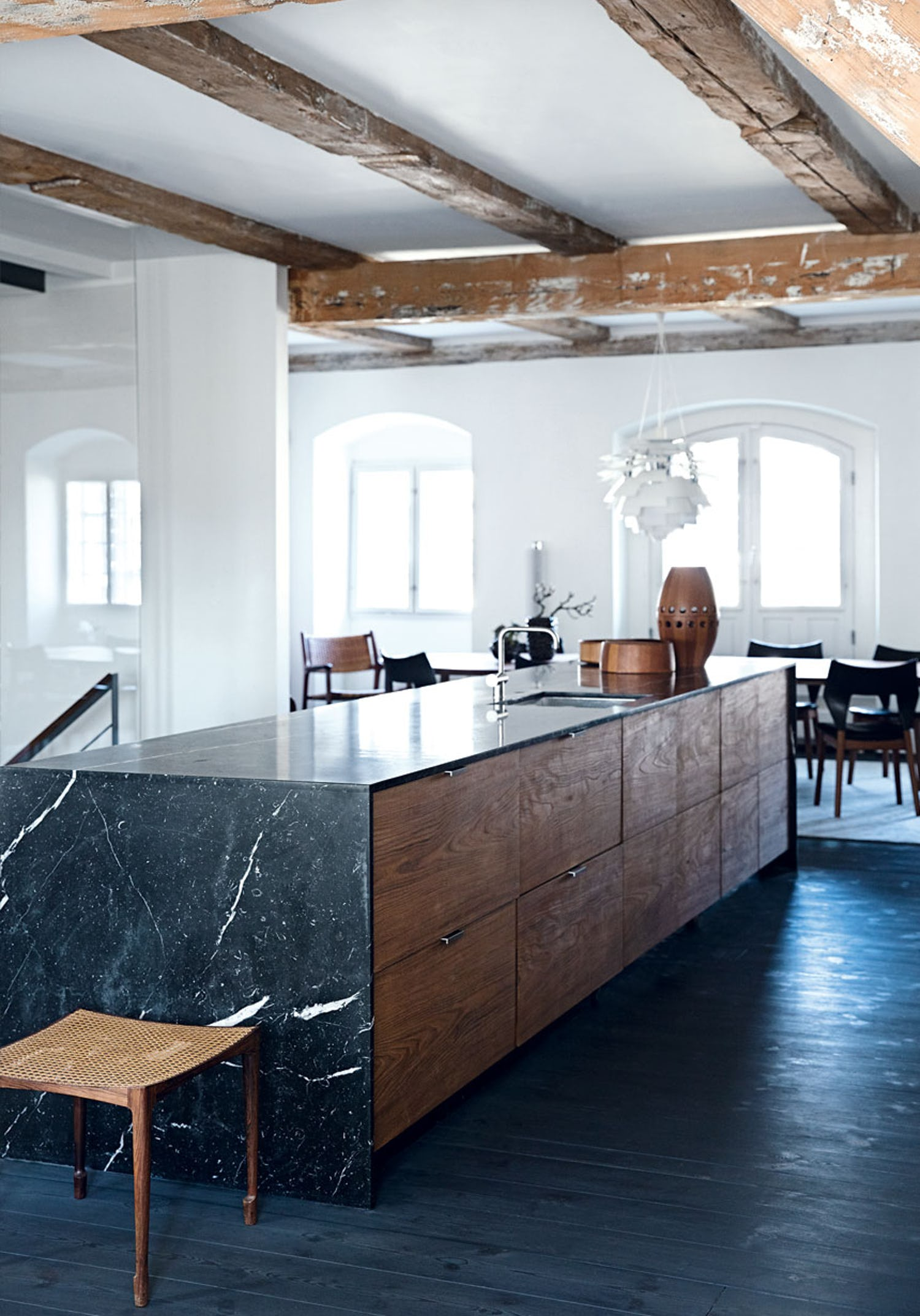 Kitchens With Black Marble Apartment Therapy