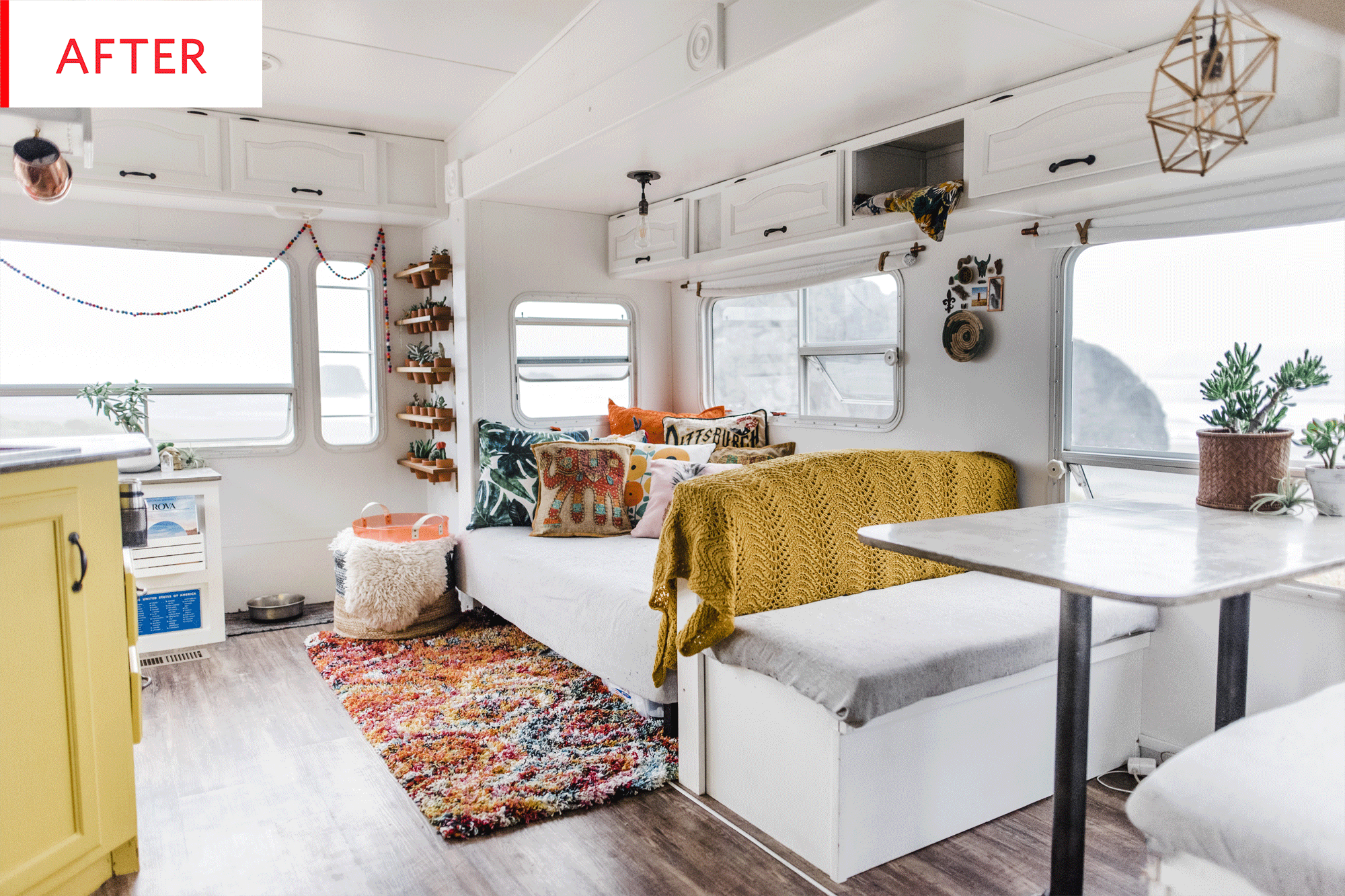 Before After A Tiny Camper S Remarkable Remodel Apartment Therapy