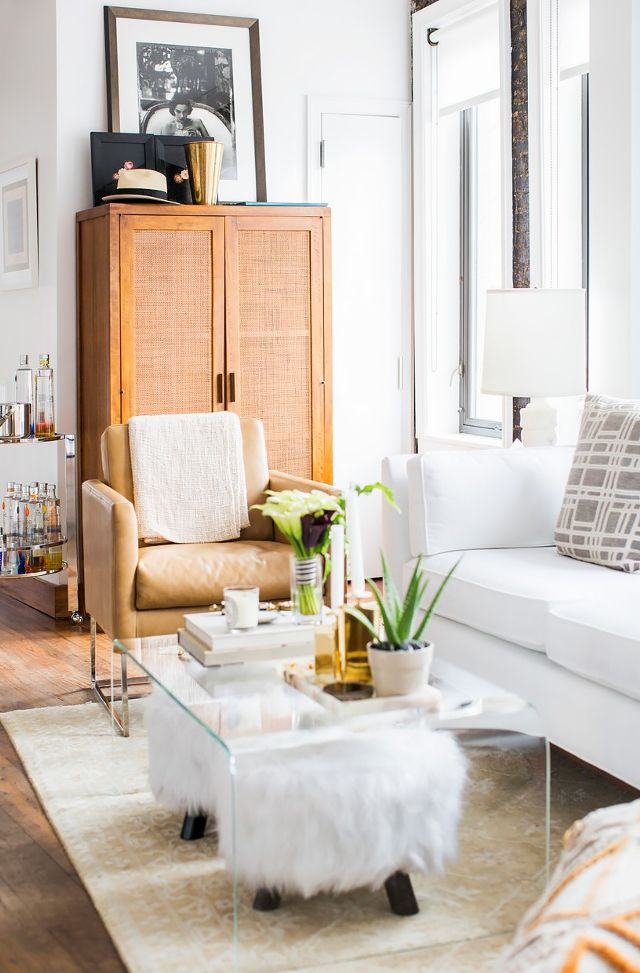 Ideas For Adding A Little Extra Seating To Your Small Living Room Apartment Therapy