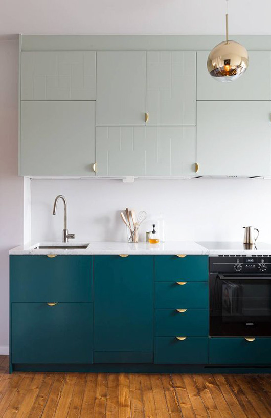Color Ideas For The Kitchen Dark Teal Cabinets Apartment Therapy