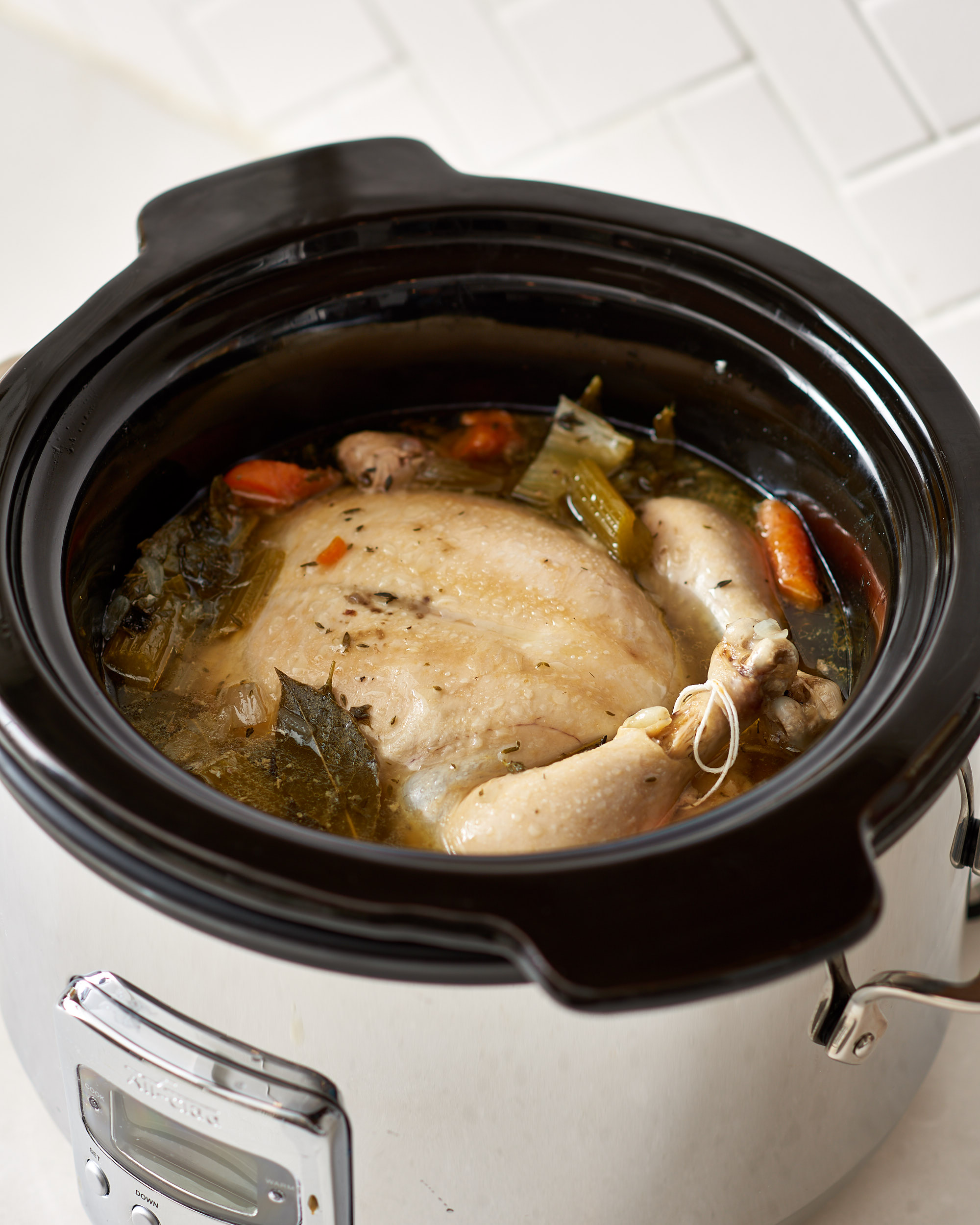 Recipe Slow Cooker Whole Chicken Soup Kitchn
