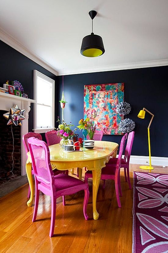 15 Dining Rooms With Brilliantly Colorful Chairs Kitchn