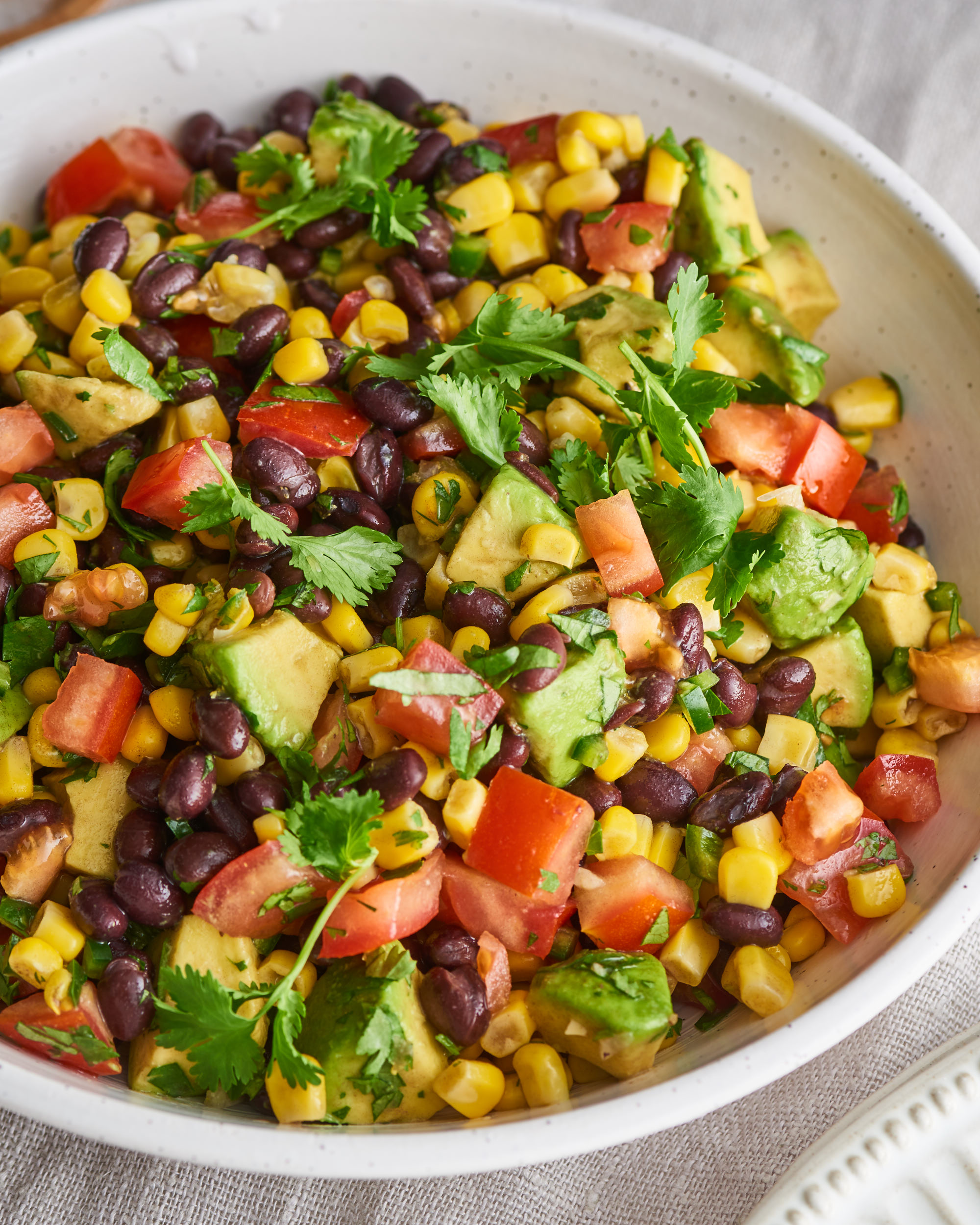 Black Bean Salad With Corn Avocado Kitchn