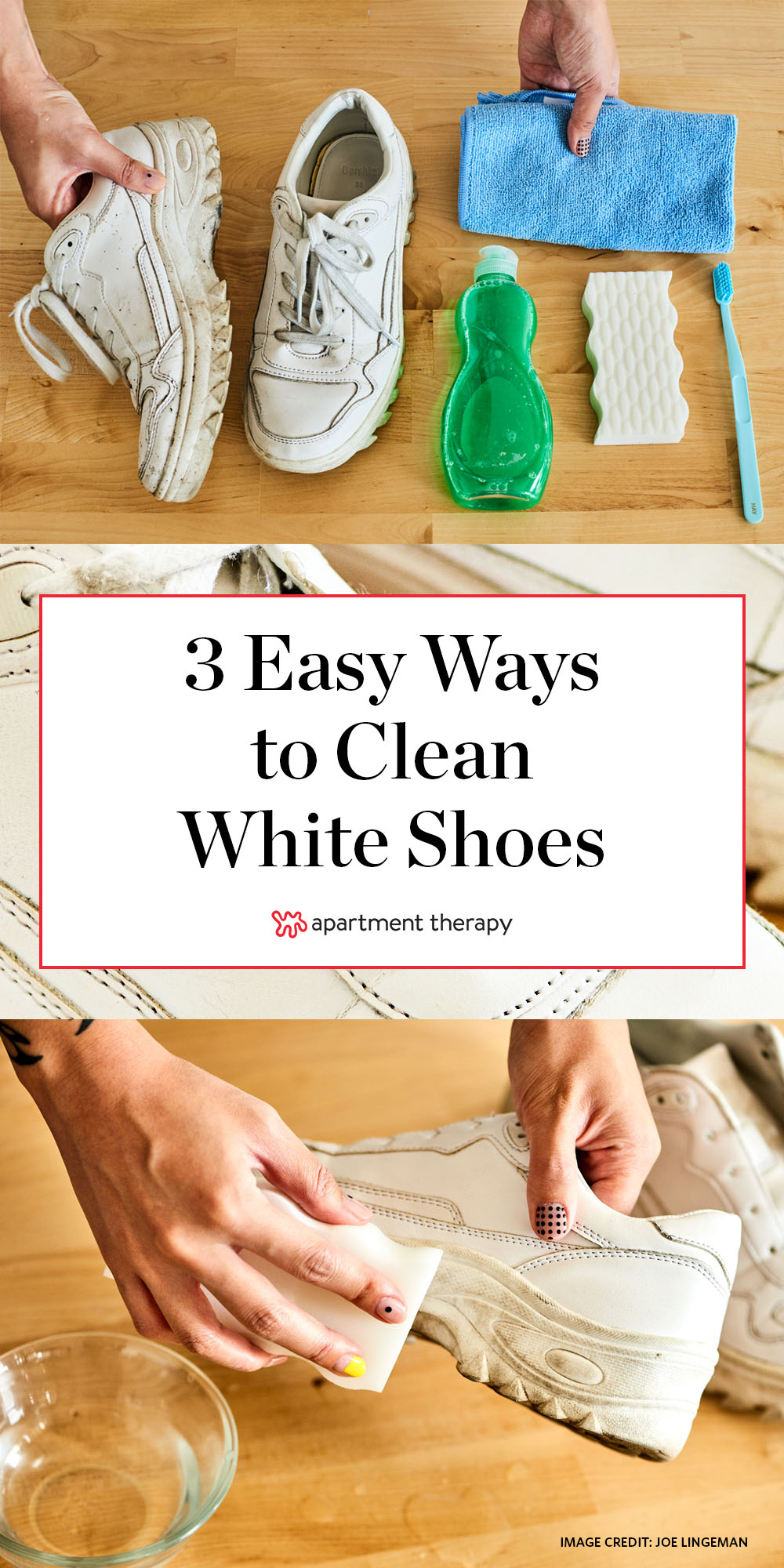 How to Clean White Shoes | Apartment