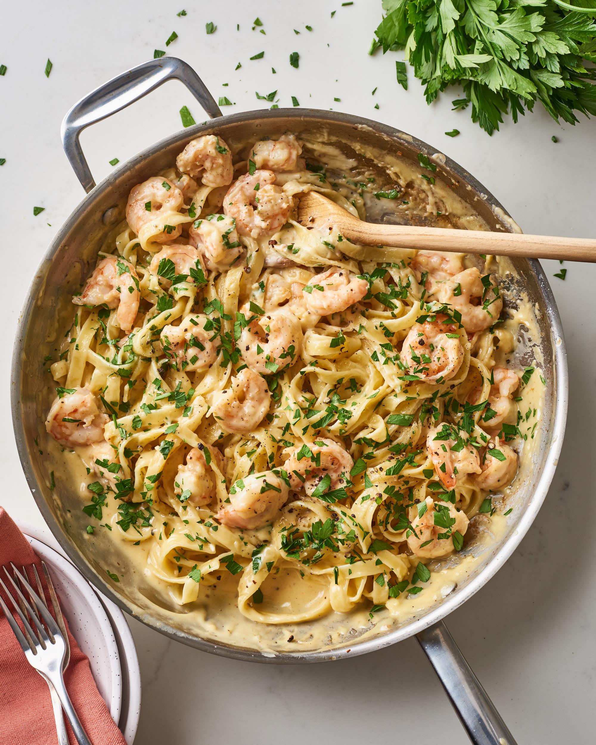 shrimp alfredo recipe with jar sauce