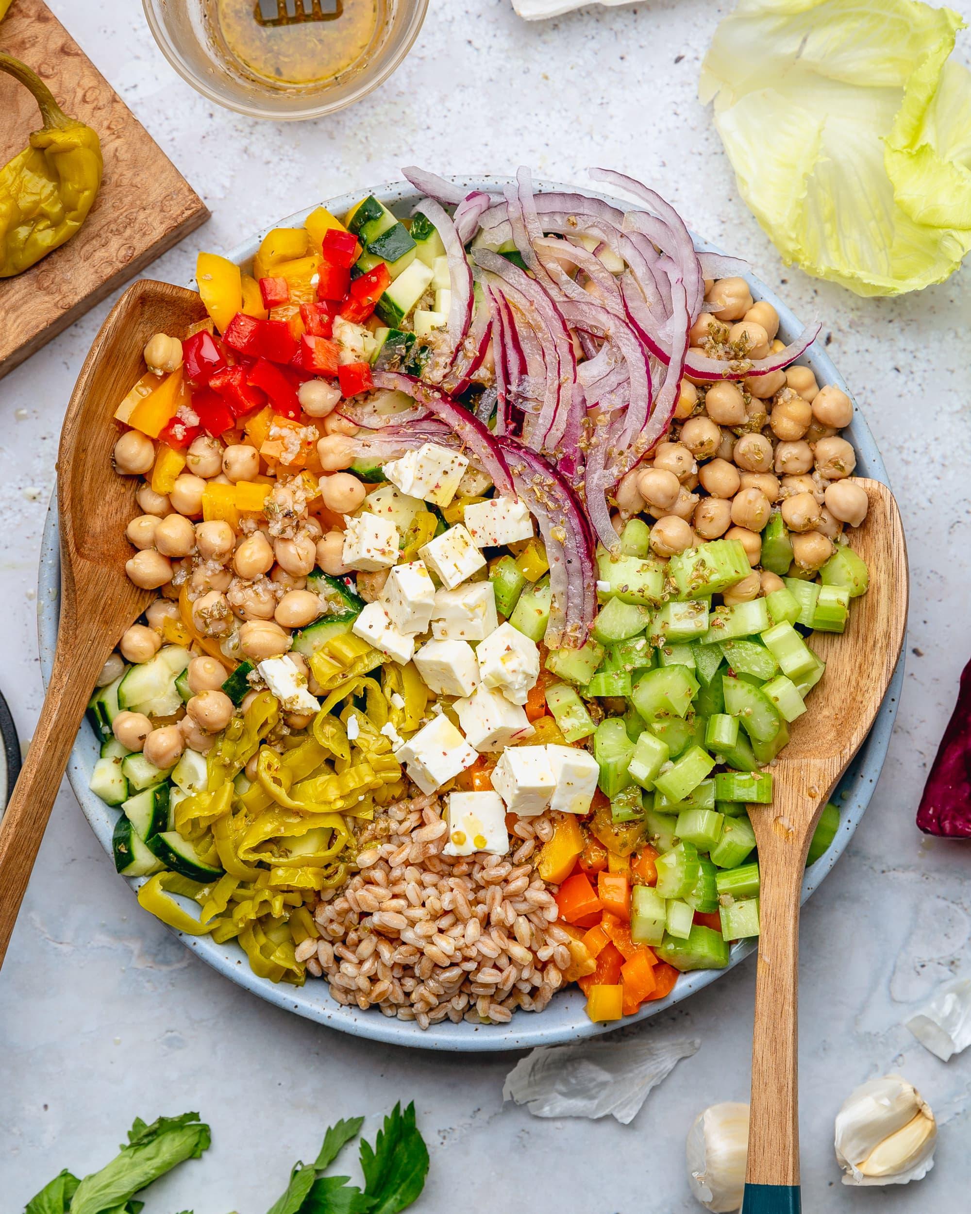 Mediterranean Style Chopped Salad With Oregano Vinaigrette Kitchn