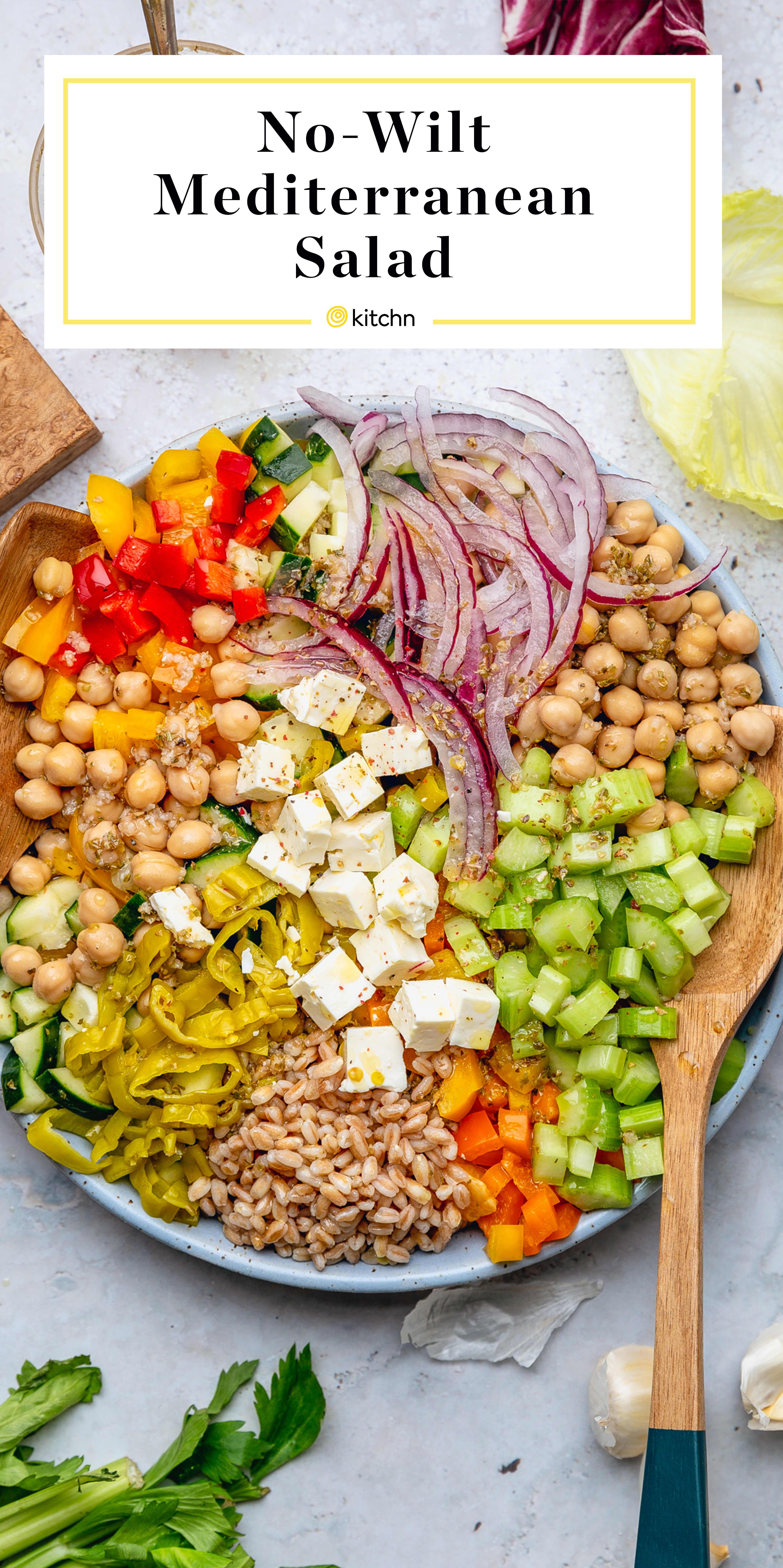Mediterranean Style Chopped Salad with Oregano Vinaigrette