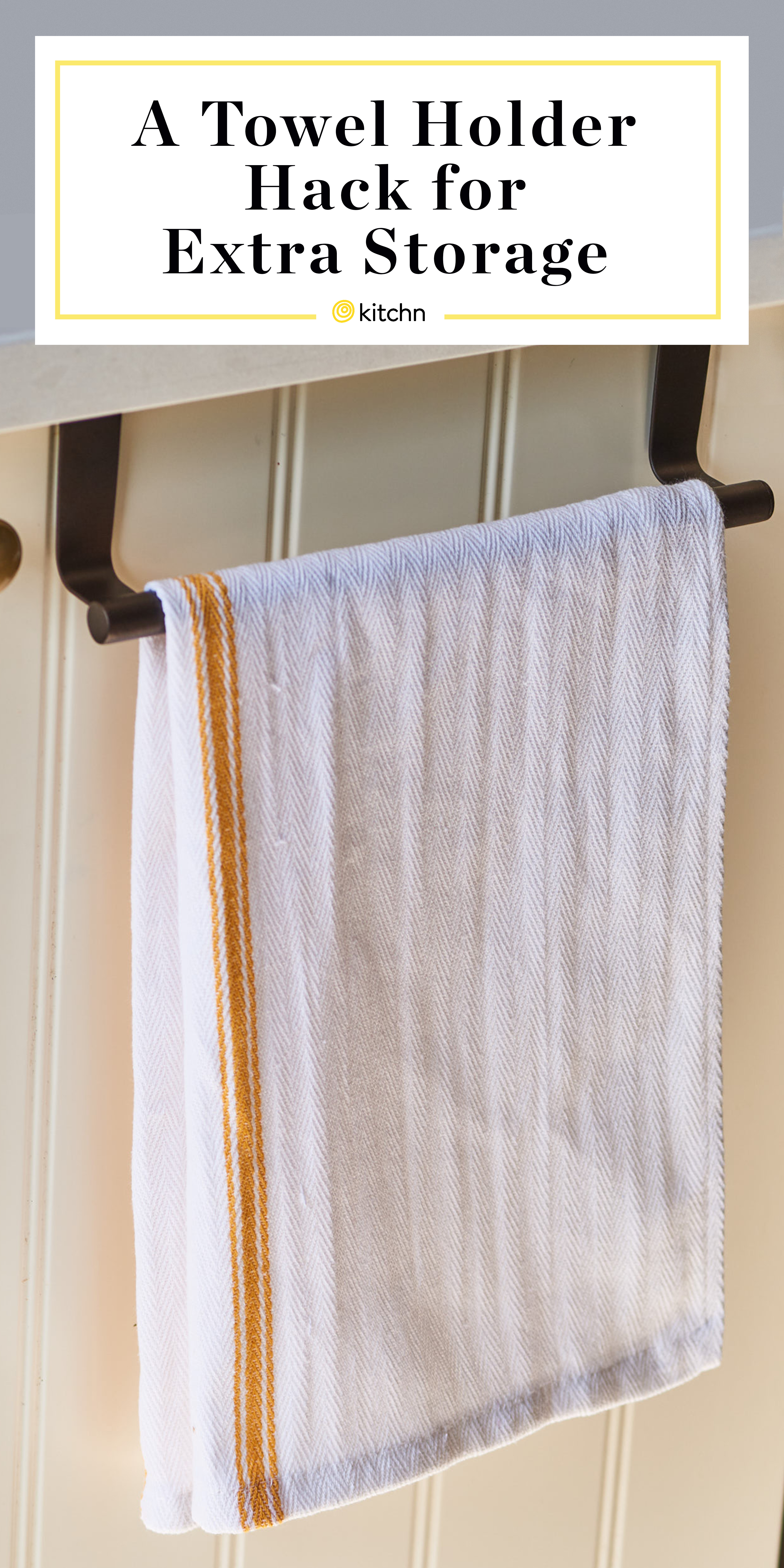 Kitchen Sink Towel Bar Organizing Hack Kitchn