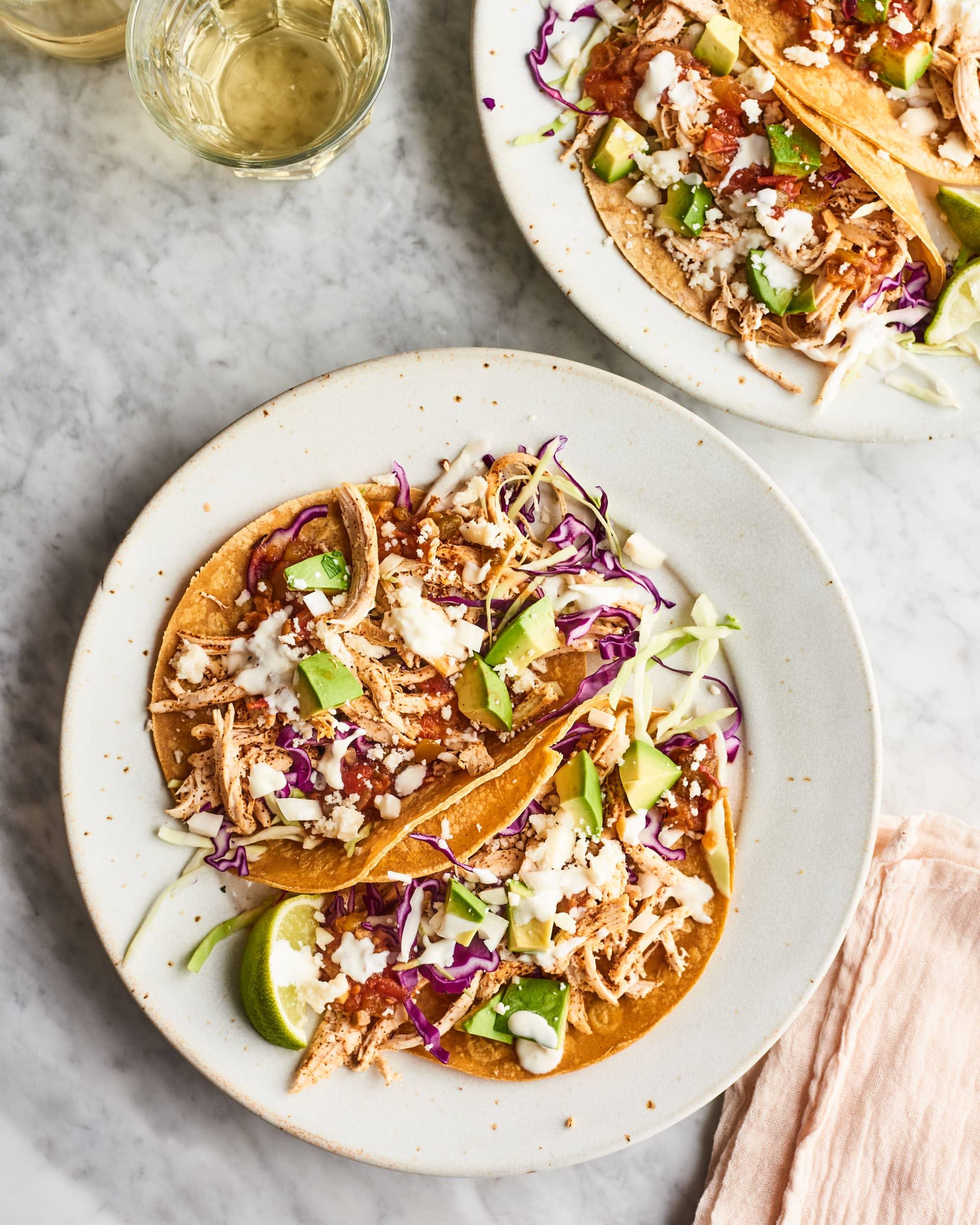 Super Fast Rotisserie Chicken Tacos Kitchn