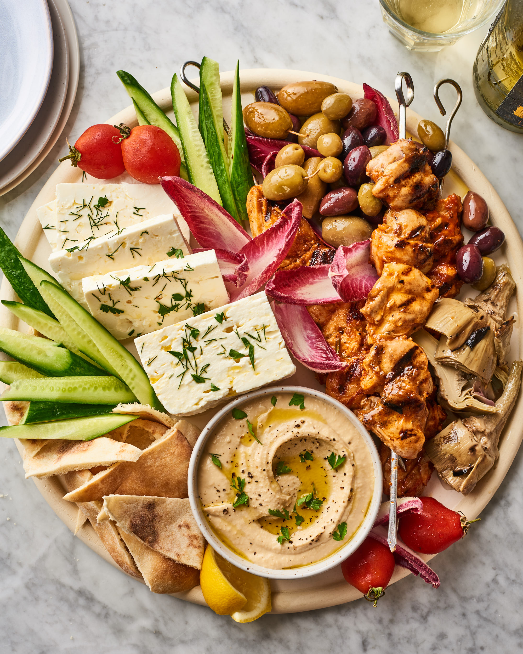 How To Make A Mediterranean Snack Board Kitchn