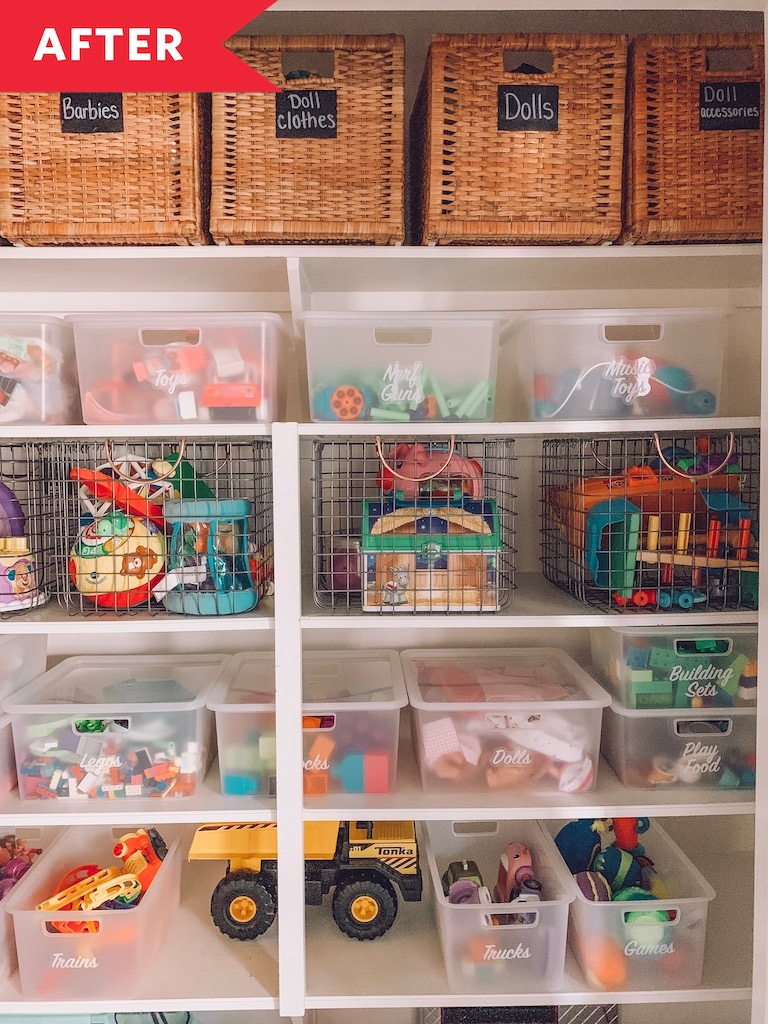 Before After A Kids Toy Closet Made Over For 100 Apartment Therapy