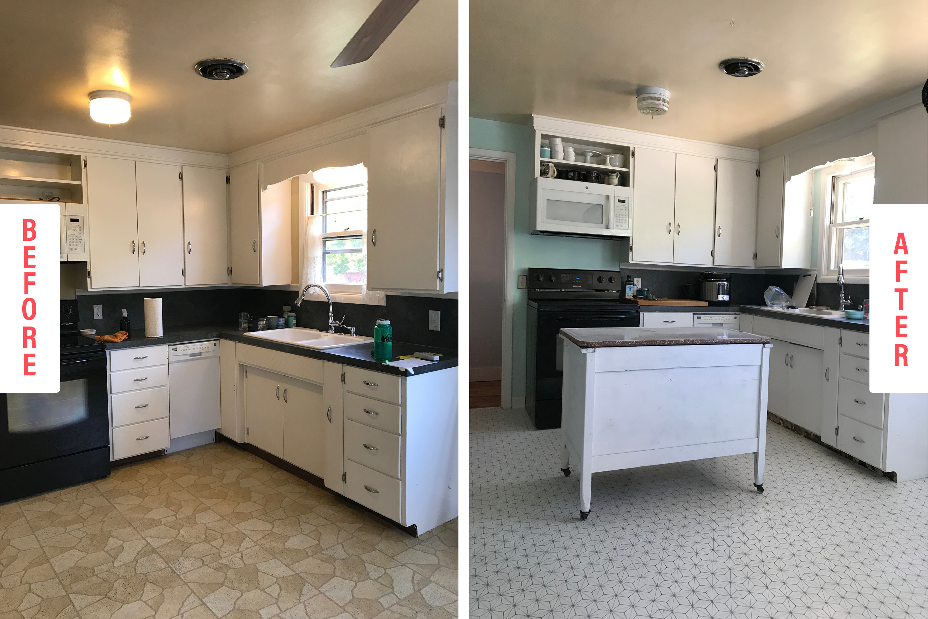 Peel and Stick Tile Kitchen Flooring Review   Kitchn
