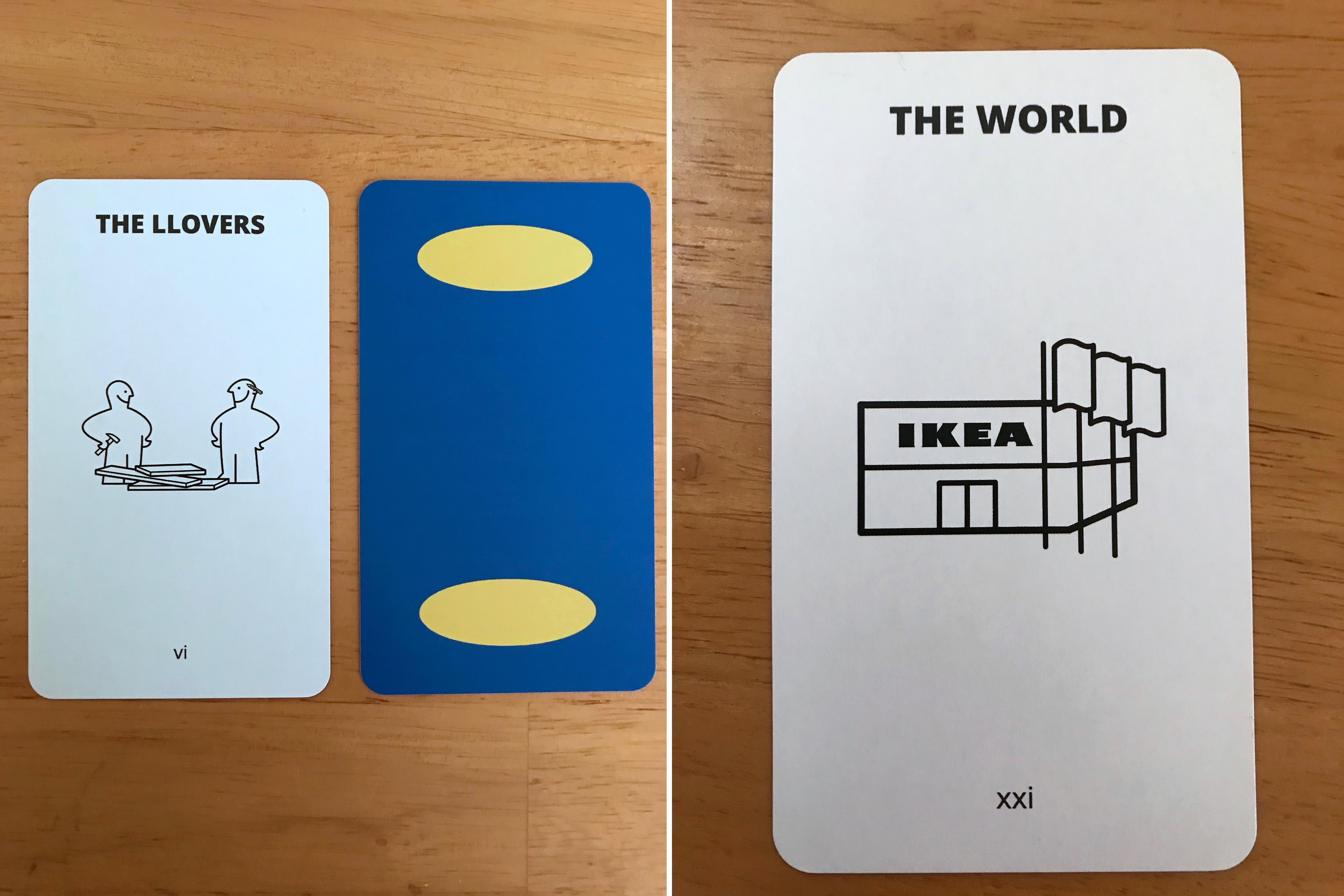 IKEA Tarot Card Set Etsy   Apartment Therapy