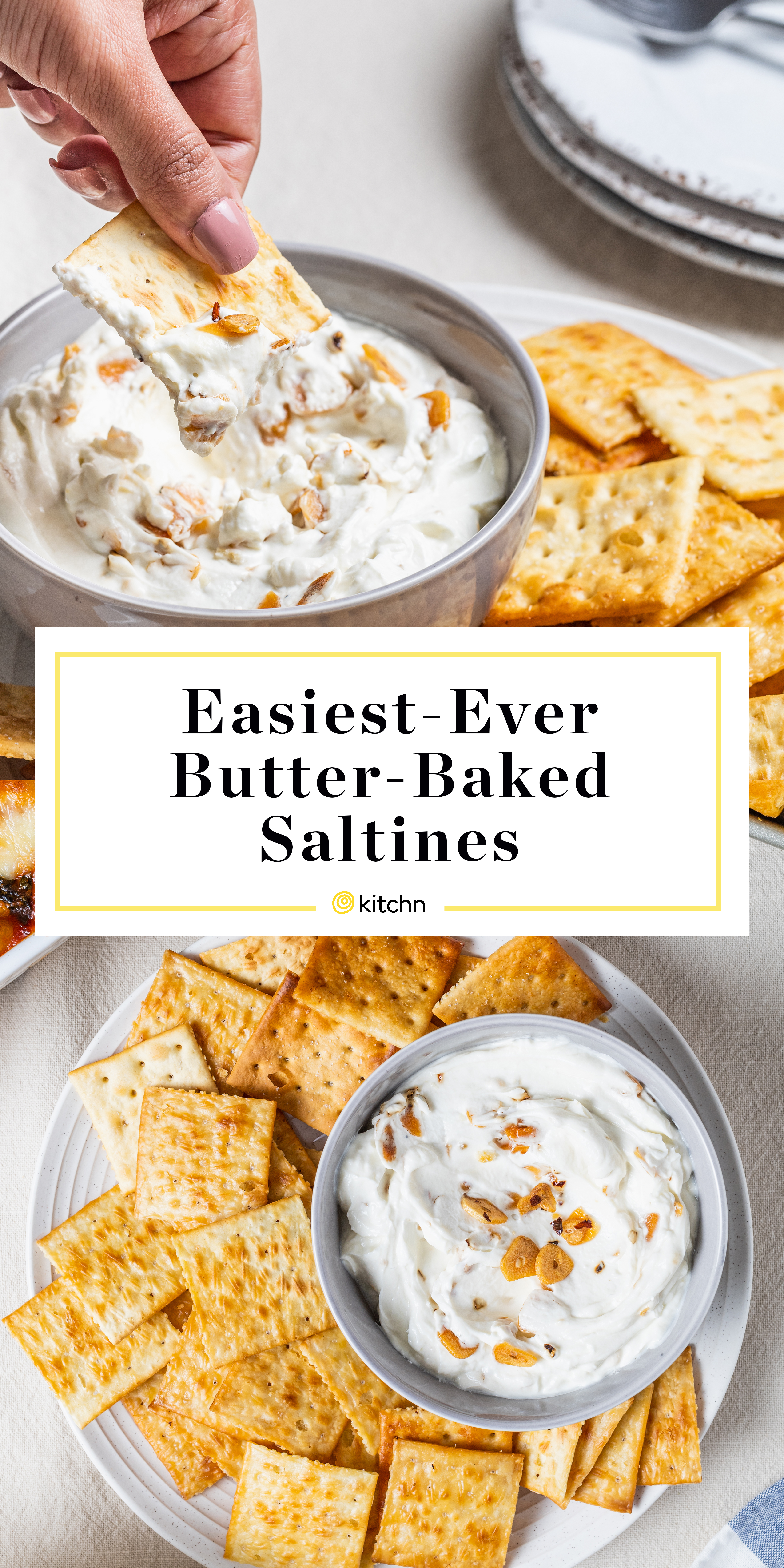 Butter Baked Saltines With Chili Crisp Yogurt Dip