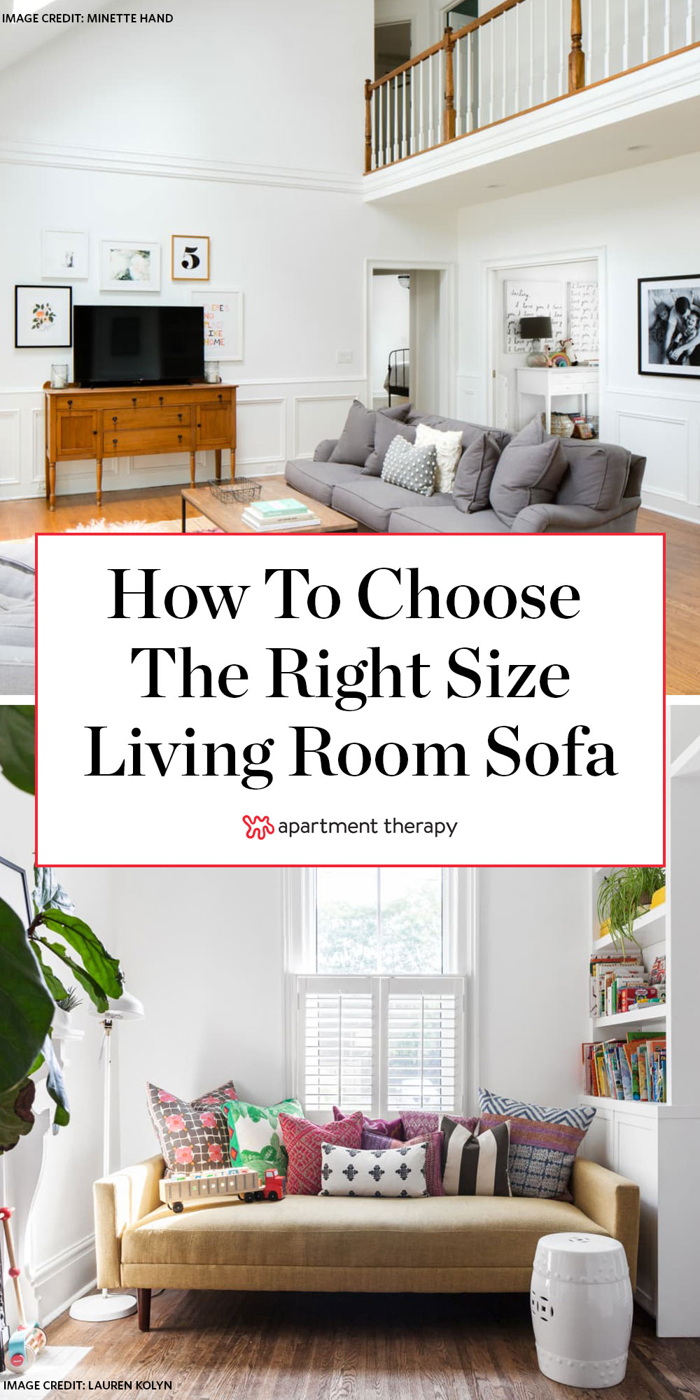 Expert Advice for Choosing the Right-Sized Sofa | Apartment ...