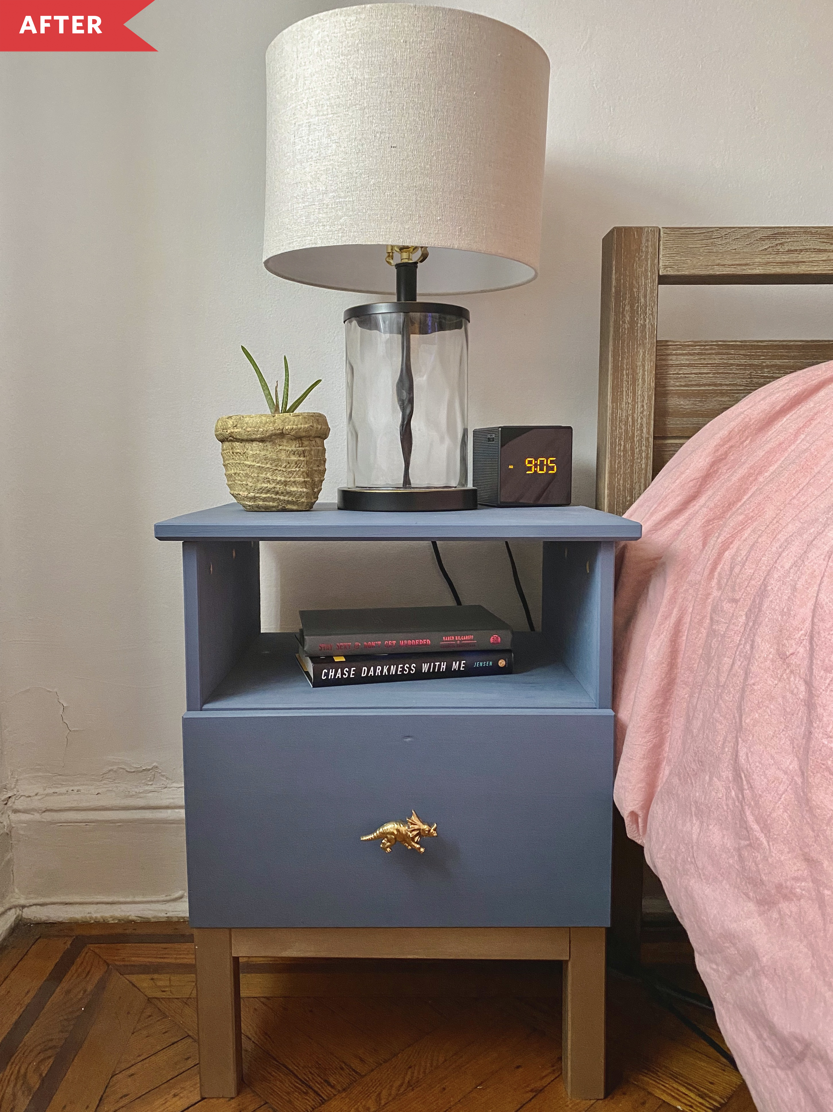 Before And After Ikea Tarva Nightstand Hack Apartment Therapy