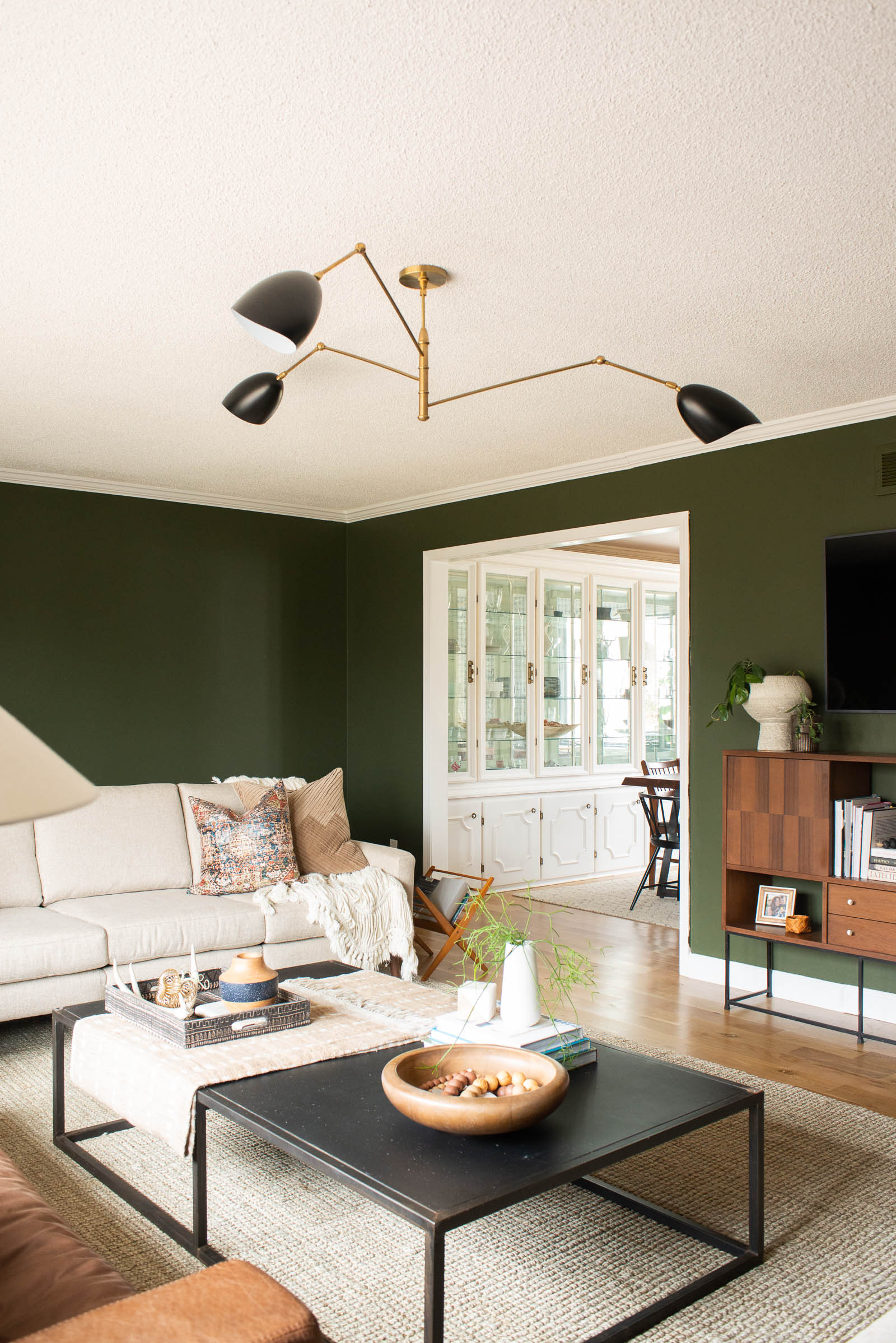 Forest Green Living Room Makeover 1 of 6