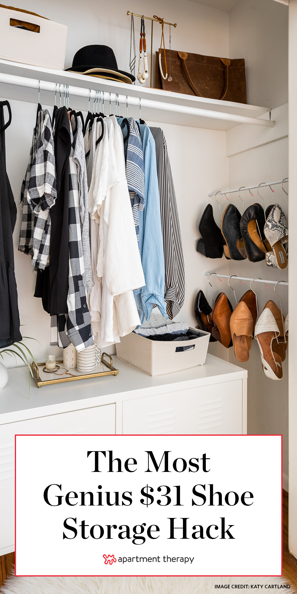 This Genius 31 Shoe Storage Hack Takes Advantage Of An Unused Spot In Your Closet Apartment Therapy