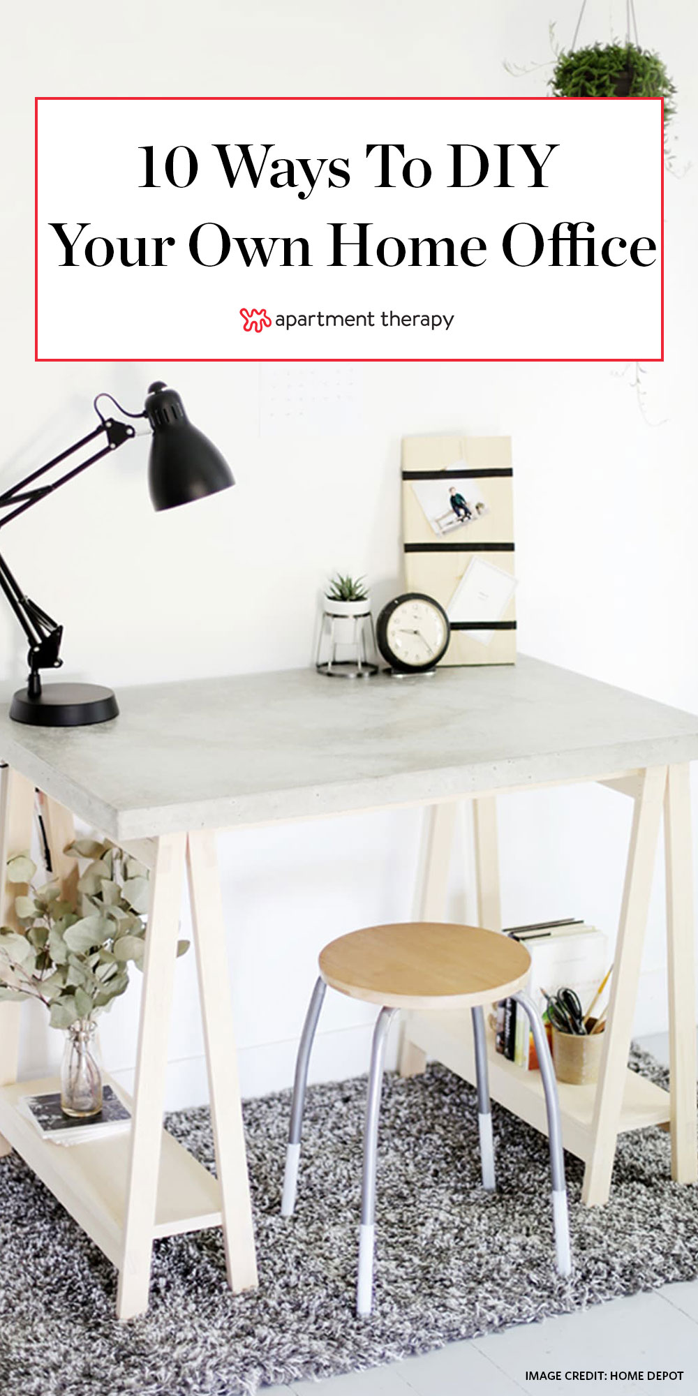 Easy DIY Desk Ideas - How to Make a Desk | Apartment Therapy