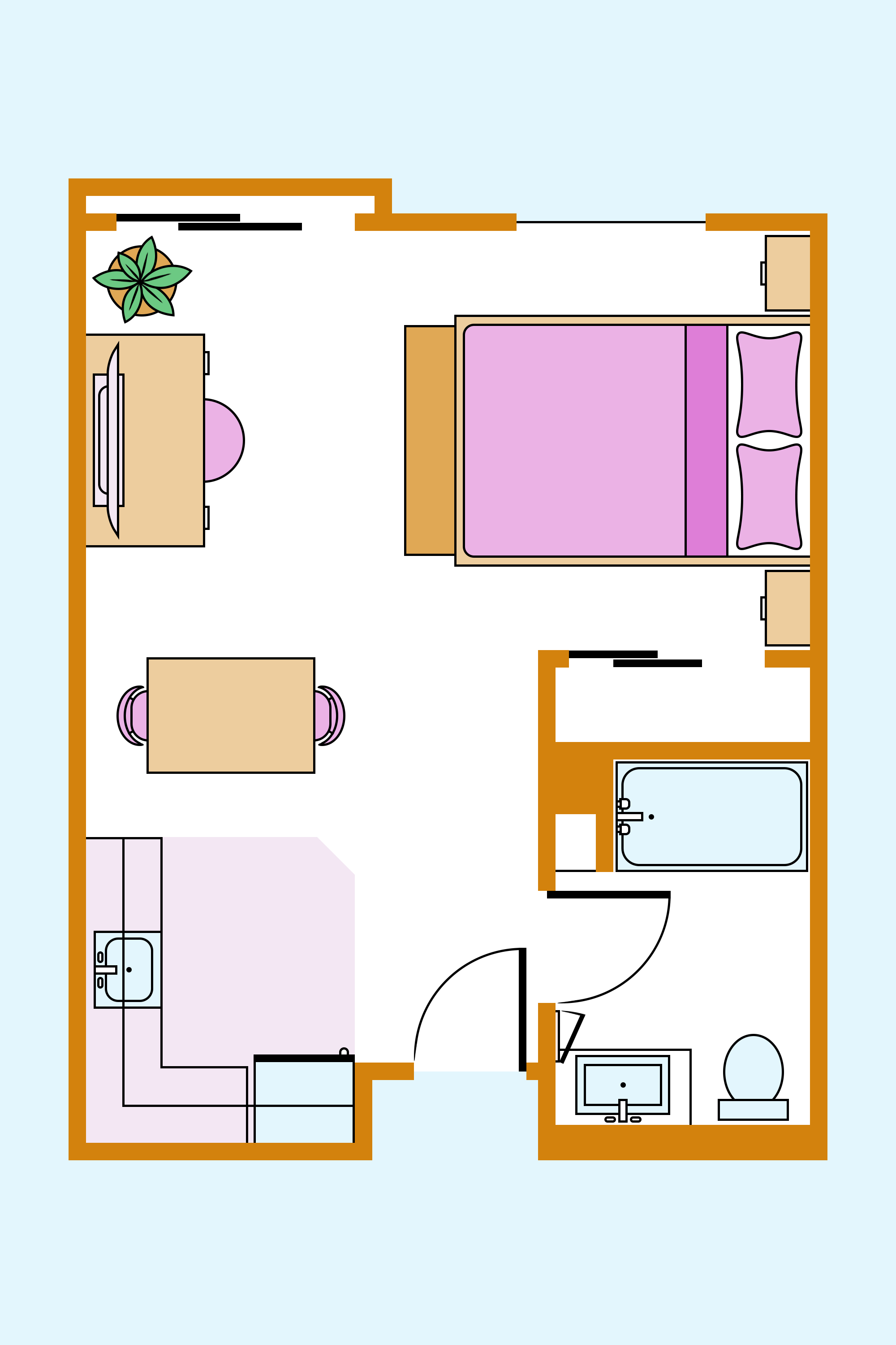 3 Studio Apartment Layouts You Should Steal From A Home Expert Apartment Therapy