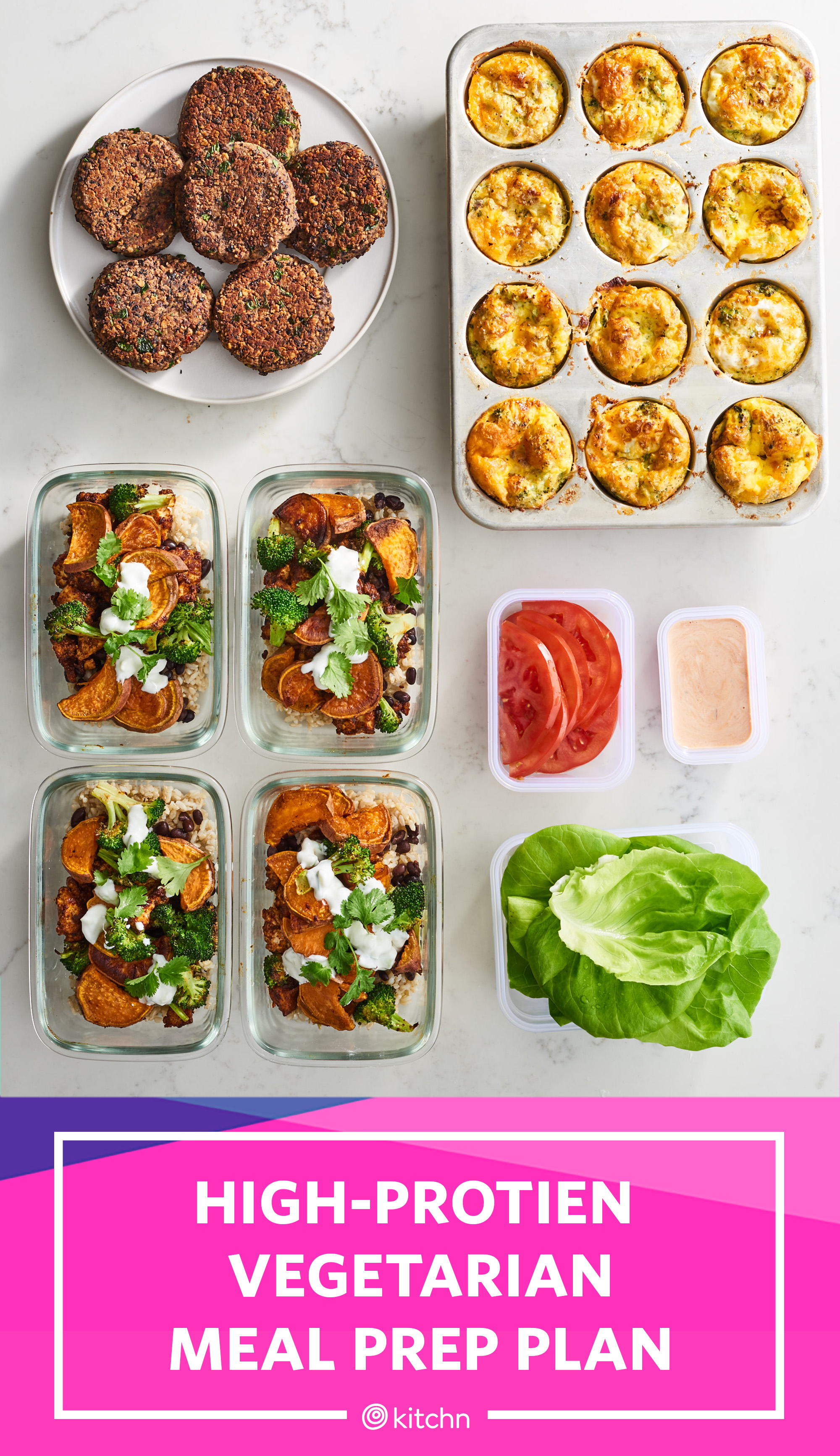 High Protein Vegetarian Meal Prep For 1 Week Of Meals In 2 Hours Kitchn