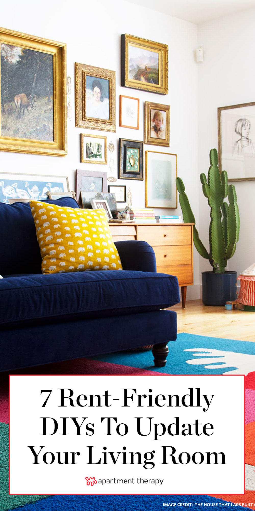 High Impact Living Room Diy Ideas For Renters Apartment Therapy