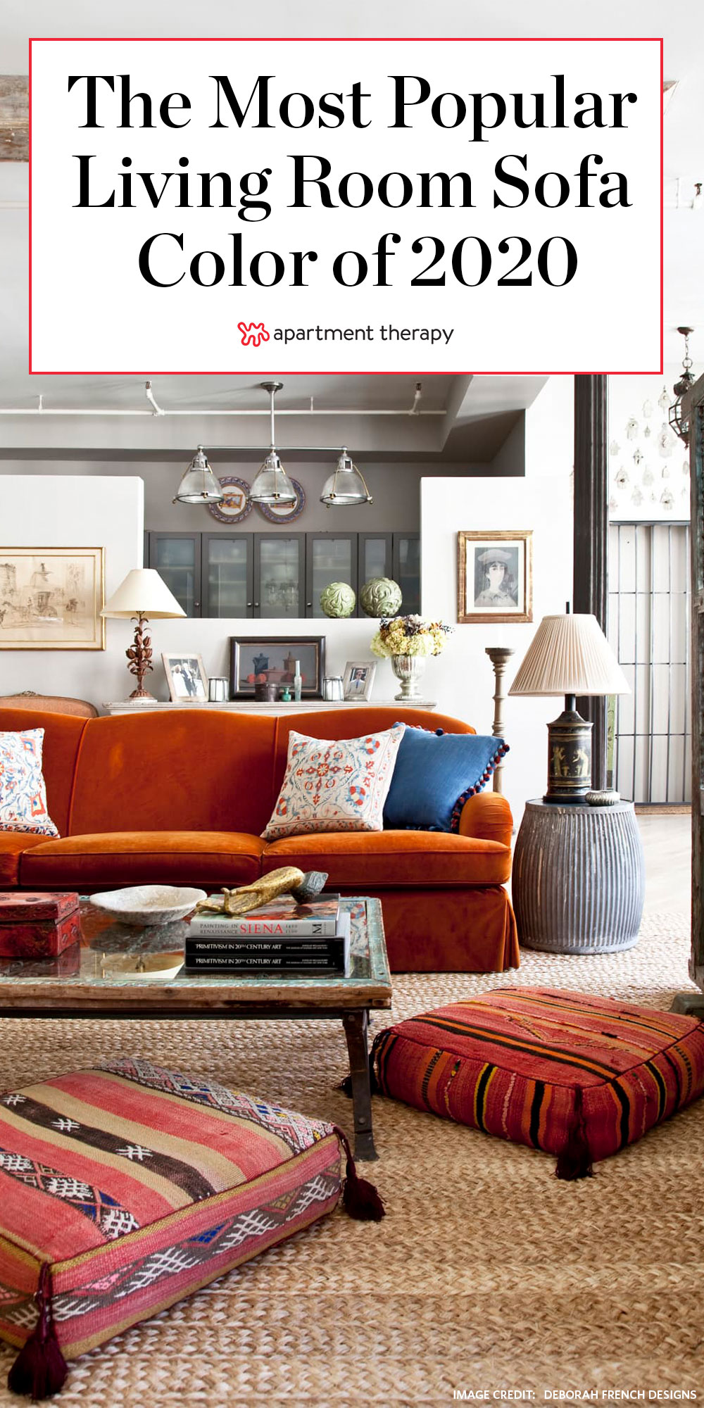 How To Use A Burnt Orange Sofa In Your Living Room Apartment Therapy