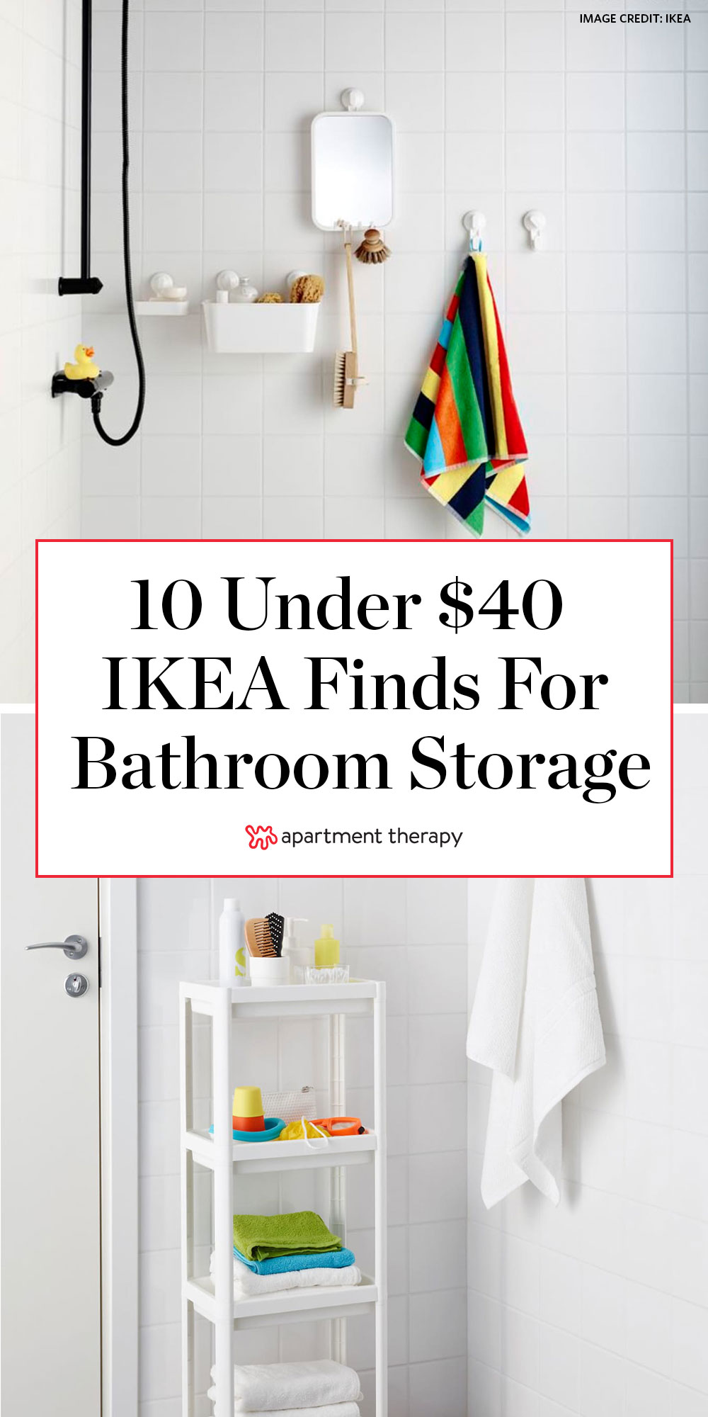 IKEA Small Bathroom Cheap Storage Ideas  Apartment Therapy