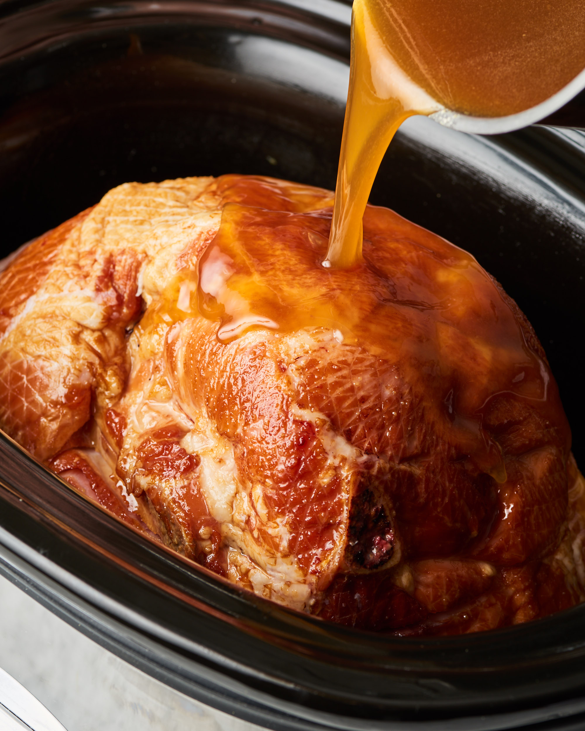 How To Make Thanksgiving Honey Glazed Ham In The Slow Cooker Kitchn