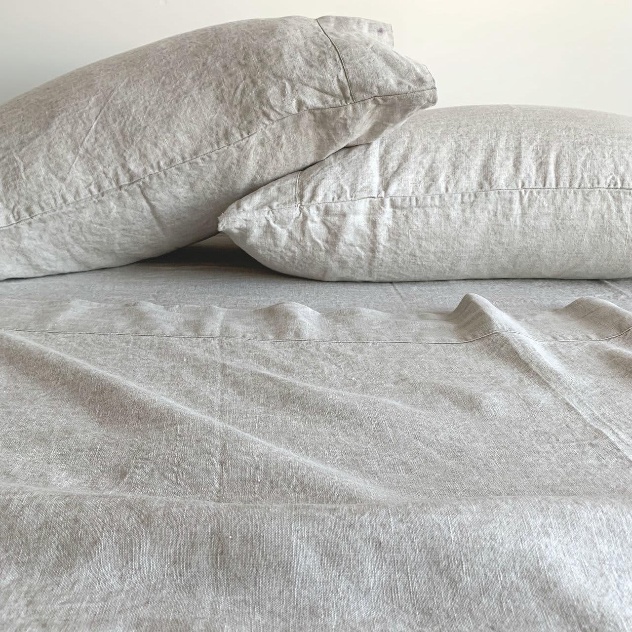 Linen FLAT SHEET 100/% Pure Natural Flax  linen bedding pre washed linen sheet Natural linen organic linen