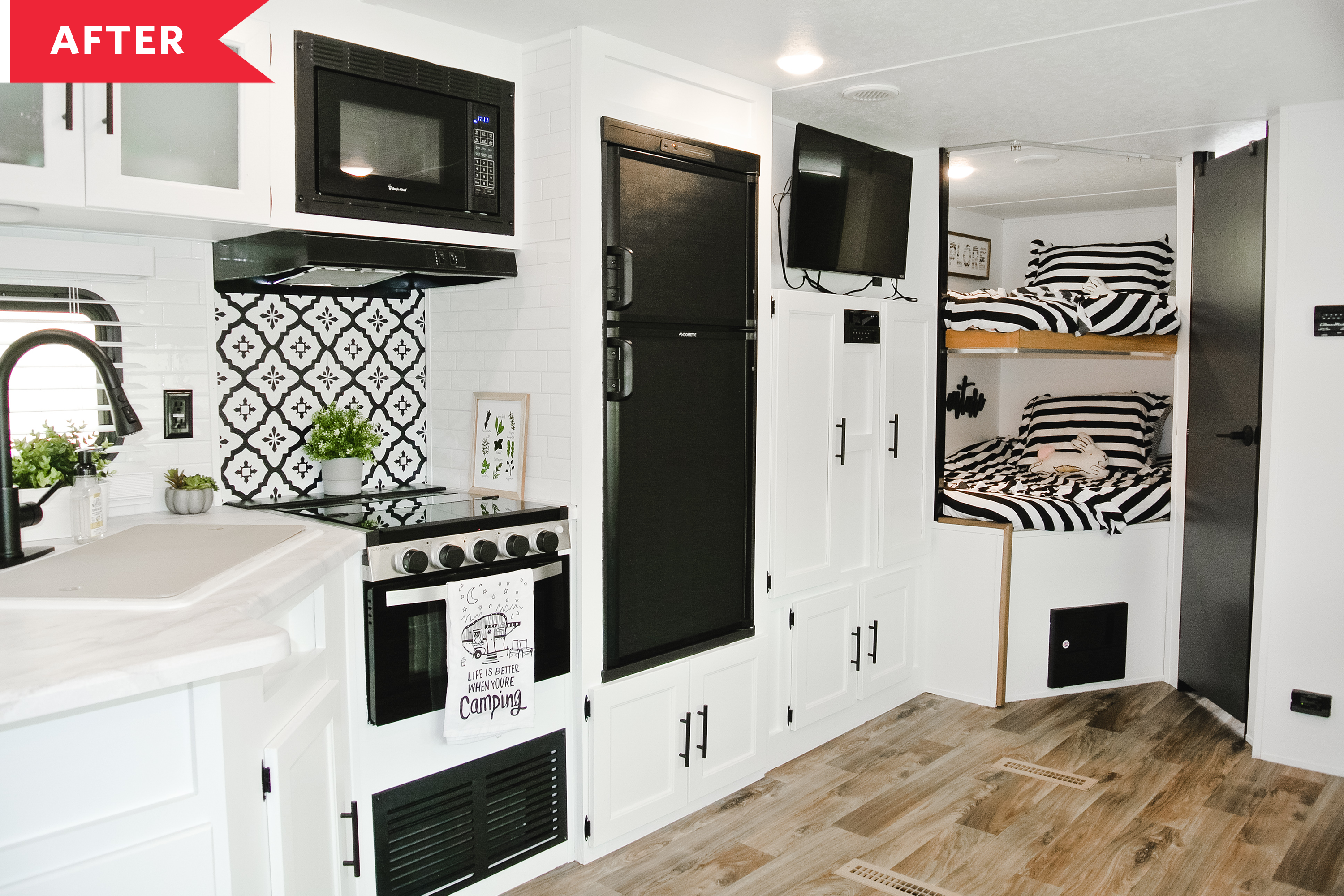 Before After Rv Modern Farmhouse Makeover Apartment Therapy