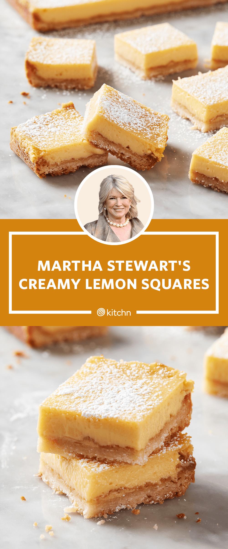 I Tried Martha Stewart's Creamy Lemon Squares   Kitchn
