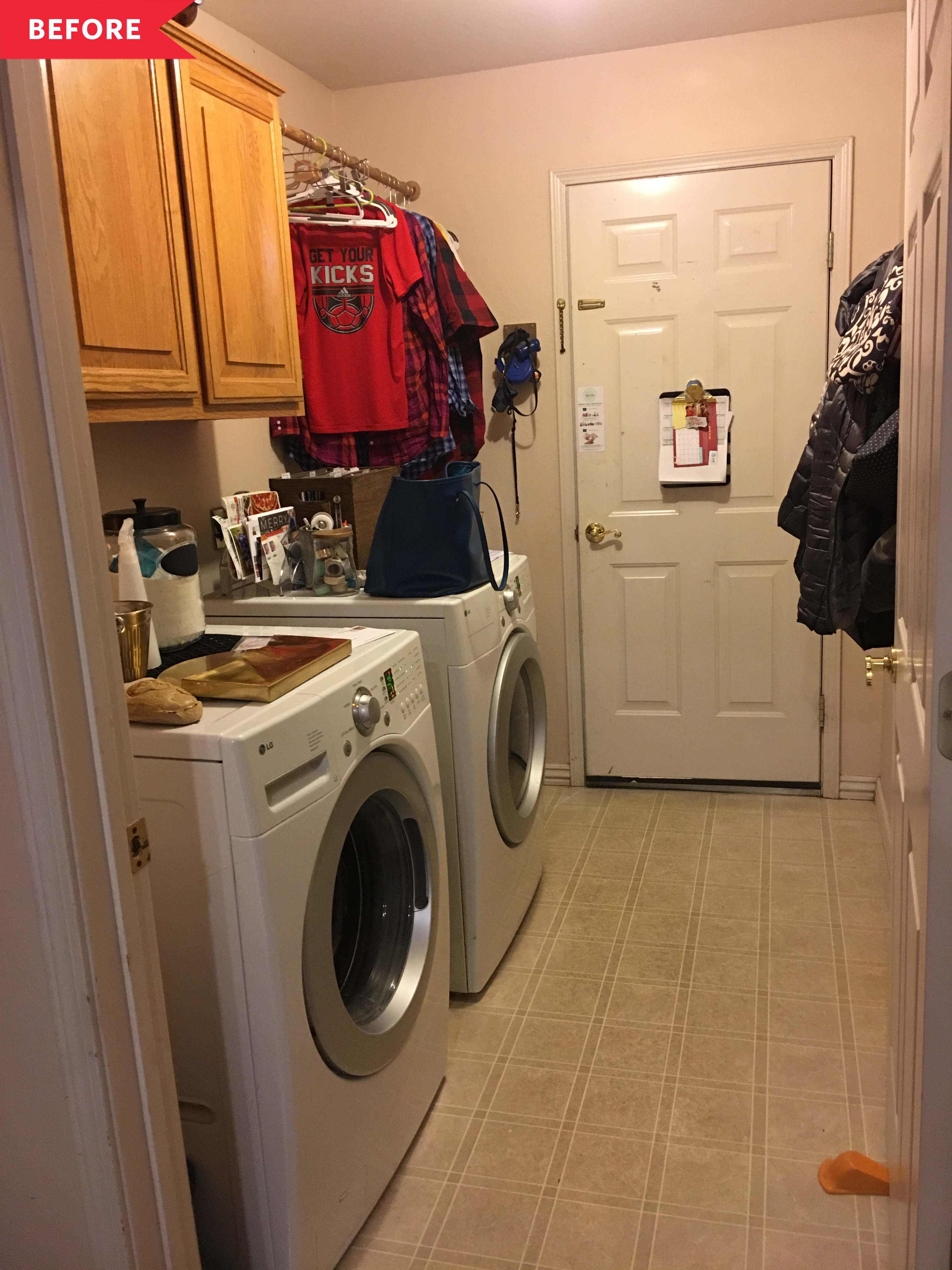 Budget Laundry Room with IKEA Cabinets   Apartment Therapy
