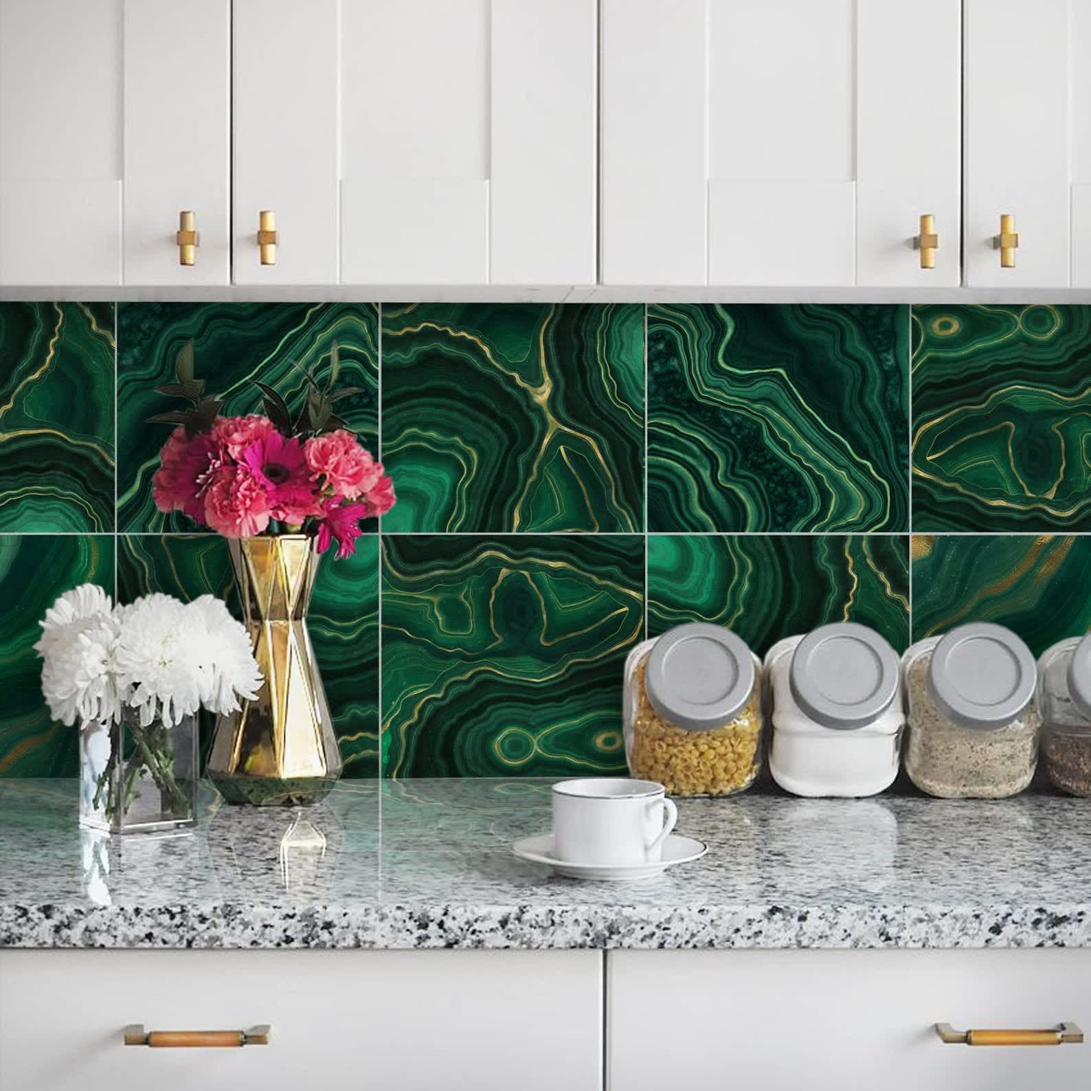 Get Dita Von Teese S Malachite Kitchen Apartment Therapy