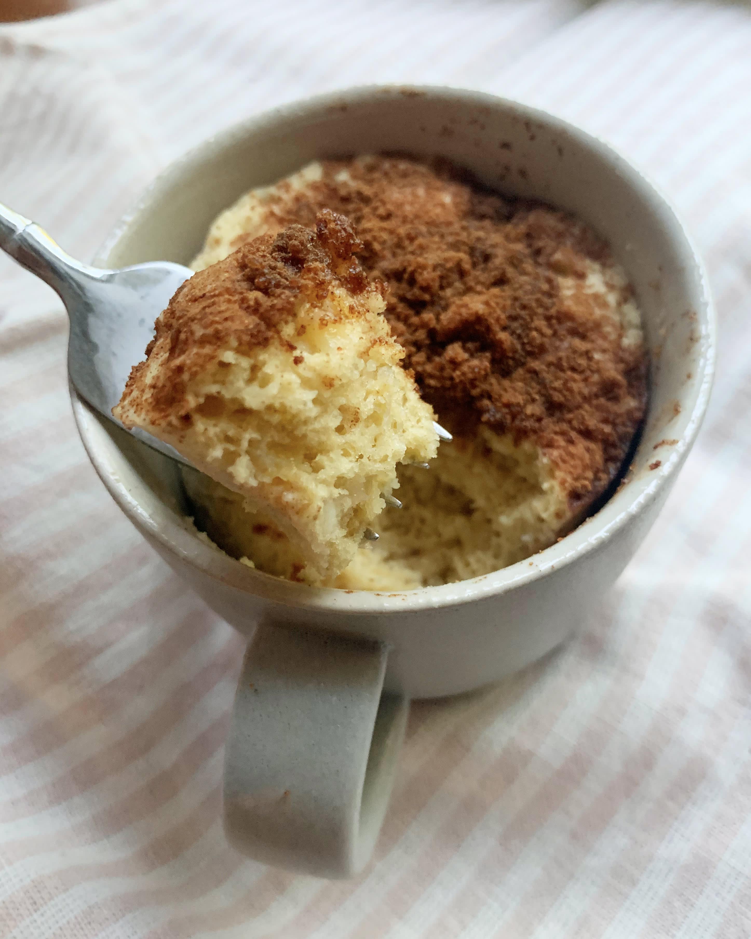 5 Minute Banana Bread Mug Cake Kitchn