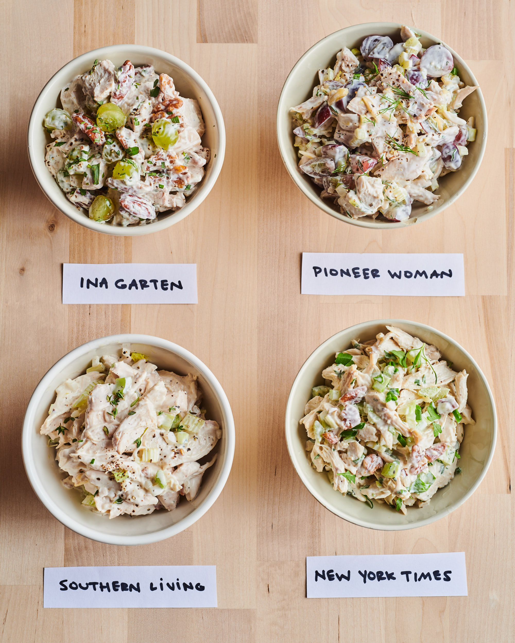 I Tried Four Popular Chicken Salad Recipes And Found The Best One Kitchn
