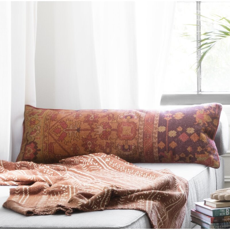 11 Long Lumbar Pillows For A Stylish Bed Apartment Therapy