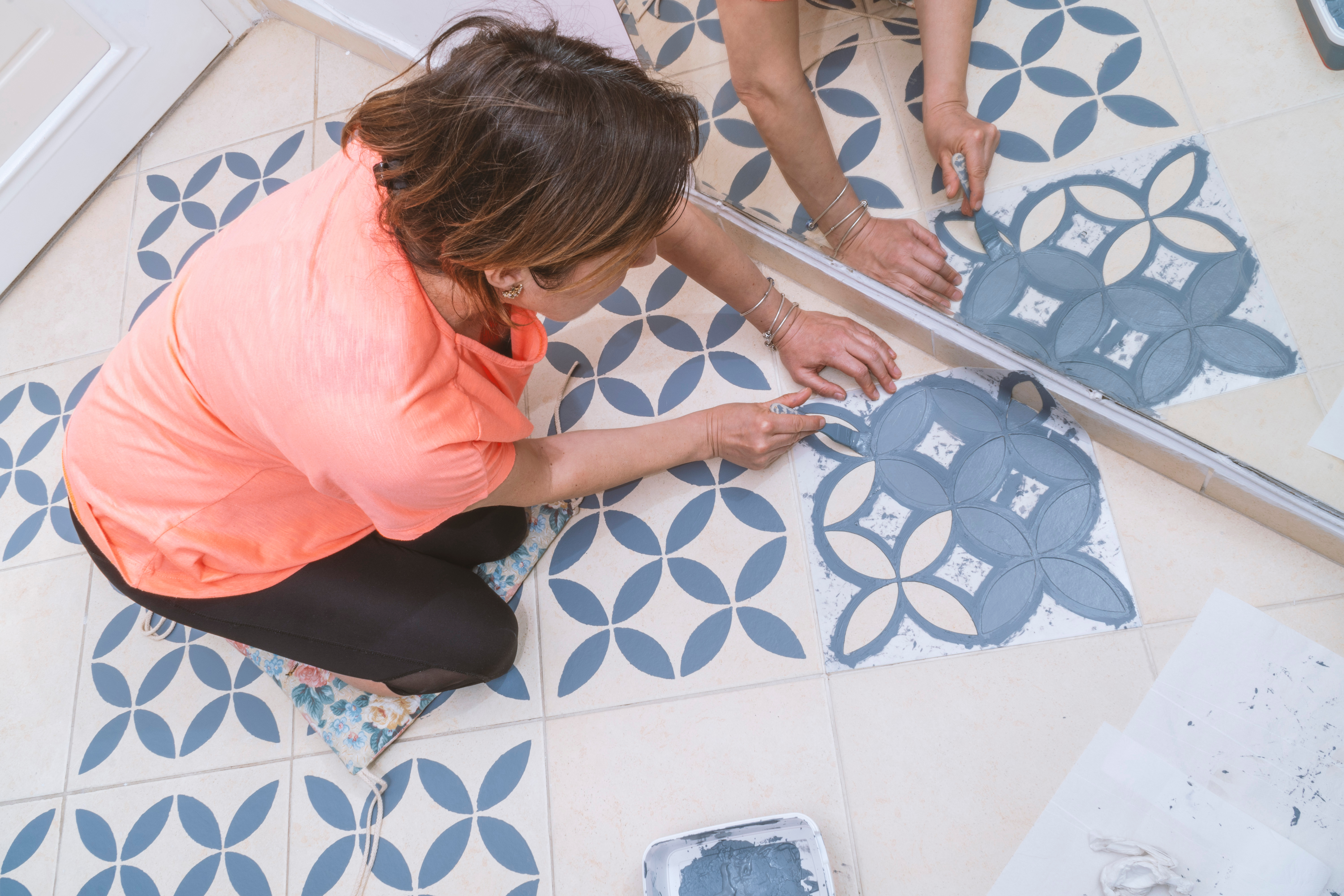 How To Paint A Tile Floor Apartment Therapy