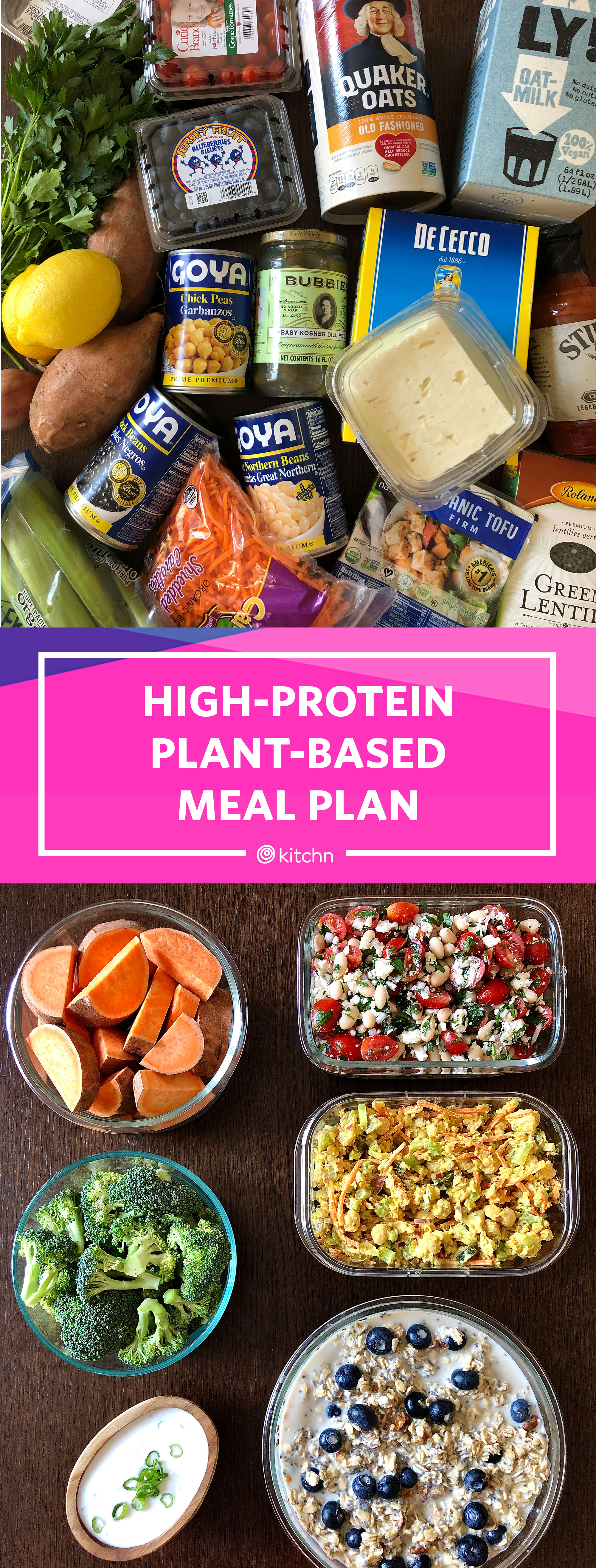 1 Hour High Protein Plant Based Meal Prep Plan Kitchn