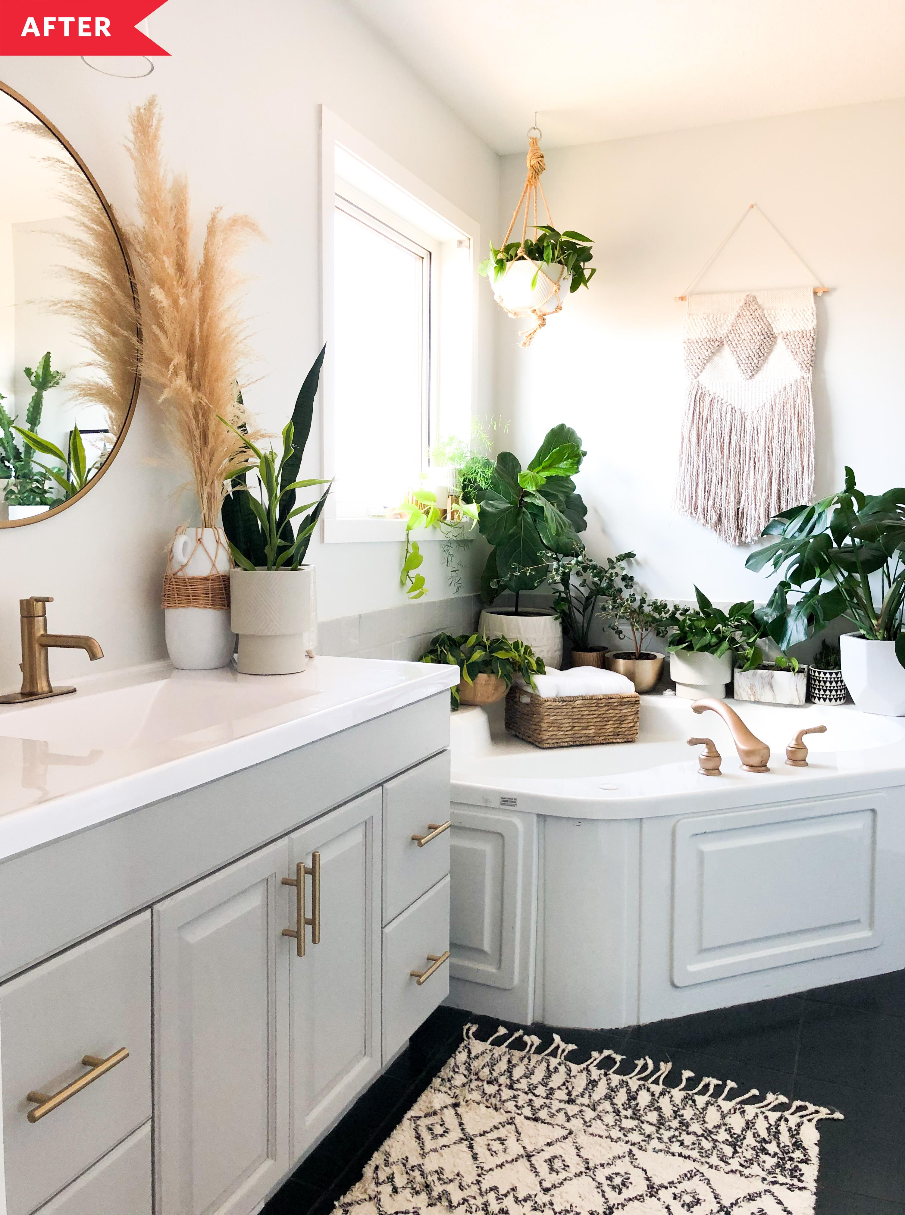 Boho Modern Bathroom Redo Apartment Therapy